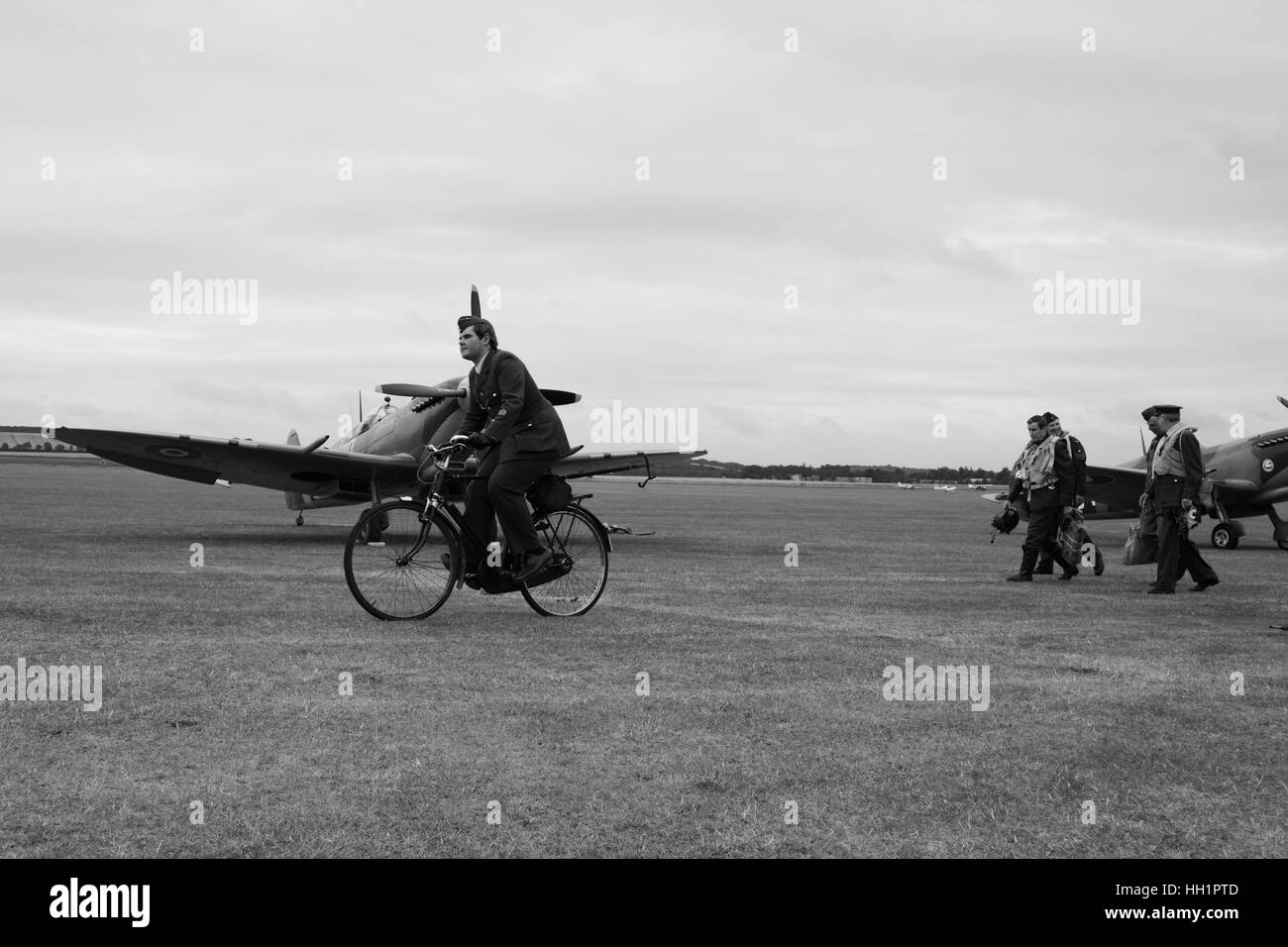 Re enactors at Duxford Air Show Stock Photo