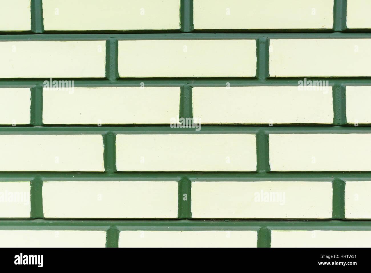 Wall Decor Design Green Yellow Brick Wall Mold Closeup