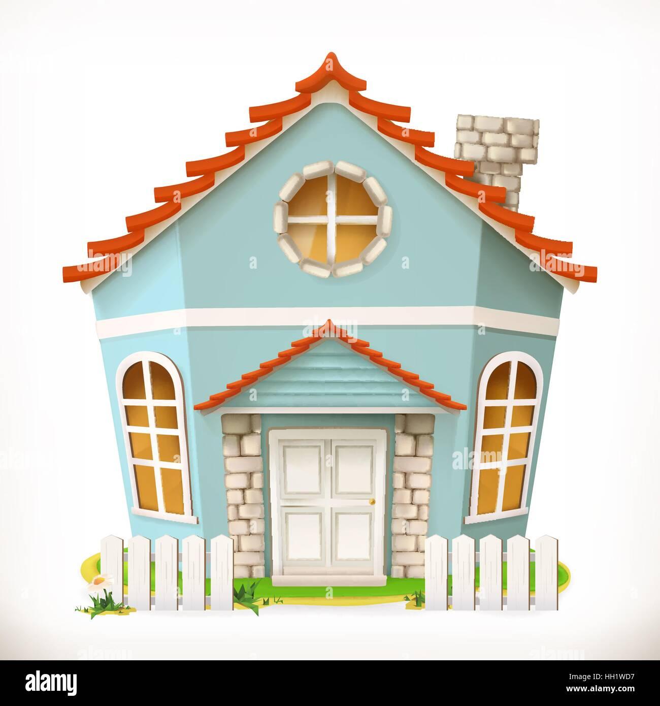 House, home  3d vector icon Stock Vector Art & Illustration