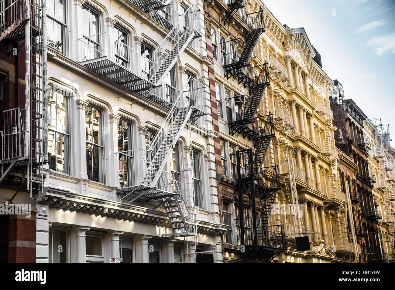 New York City View Of Exterior Facade On Ornate Old