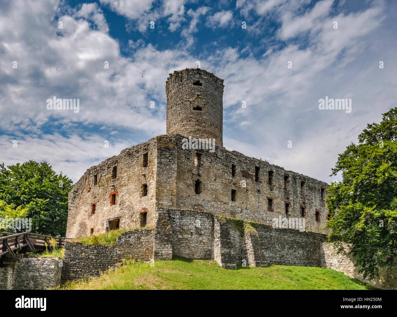 Lipowiec Castle near Babice, Malopolska, Poland - Stock Image