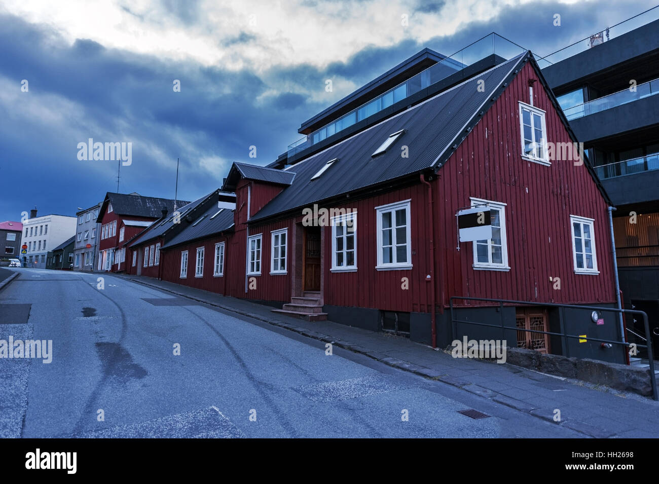 icelandic sreet - Stock Image