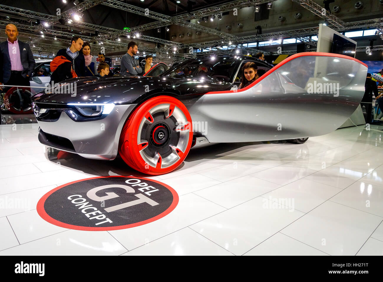 Vienna Autoshow 2017, Opel GT Concept Car - Stock Image