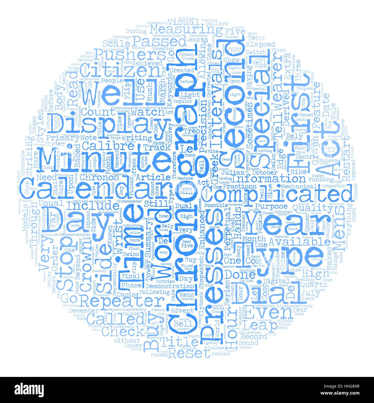 Chronograph Watches text background wordcloud concept - Stock Image