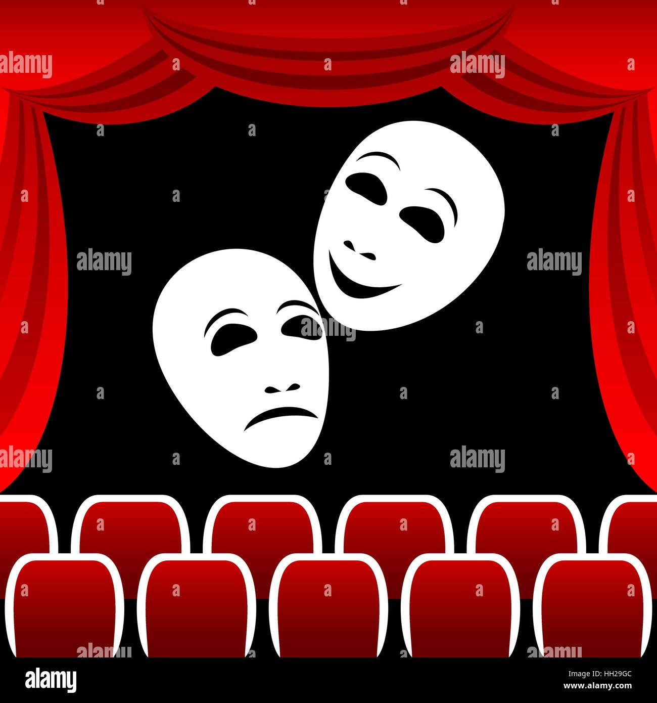 Theatrical masks. - Stock Vector