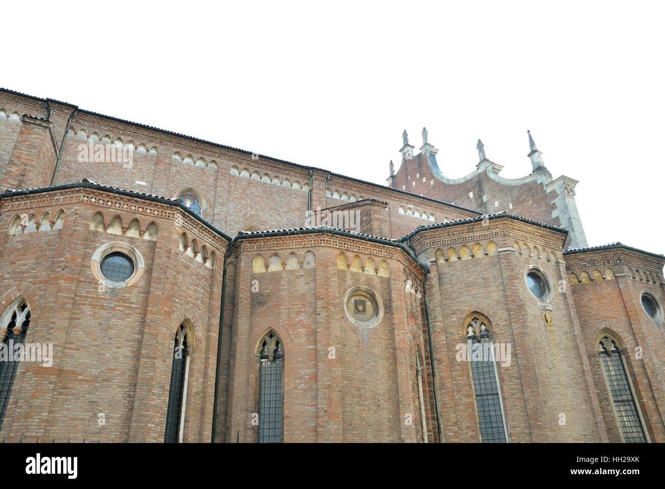 Santa Maria Annunciata Cathedral, lateral view (Vicenza) - Stock Image