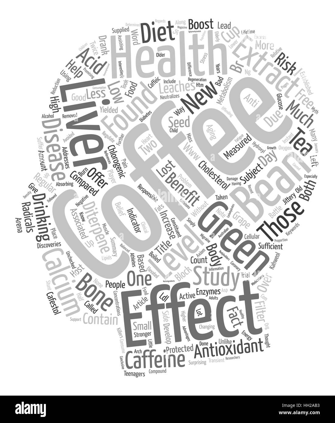 Coffee Health New Antioxidant On The Block text background wordcloud concept - Stock Vector