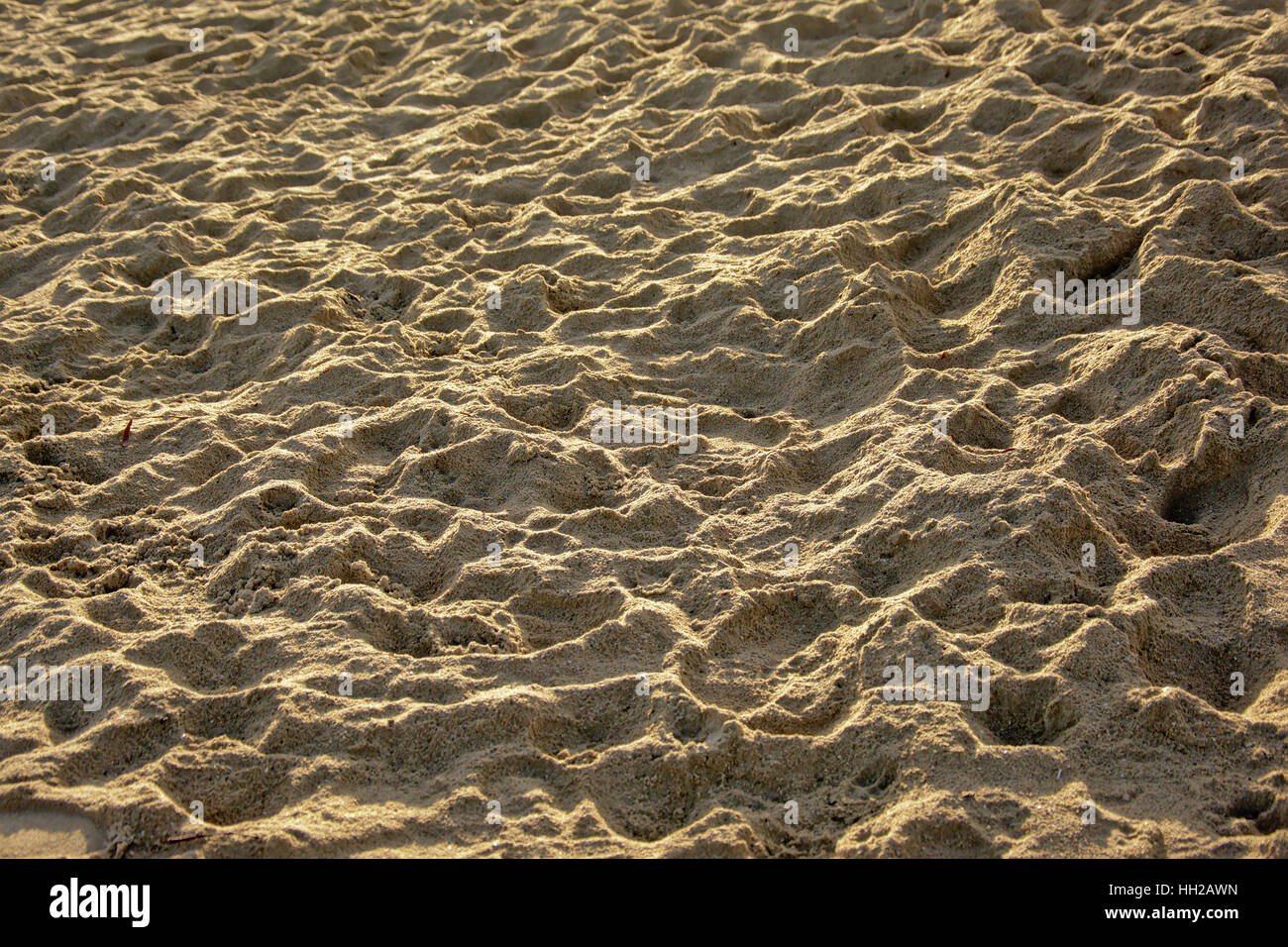 Light and shadow play in the sand background - Stock Image