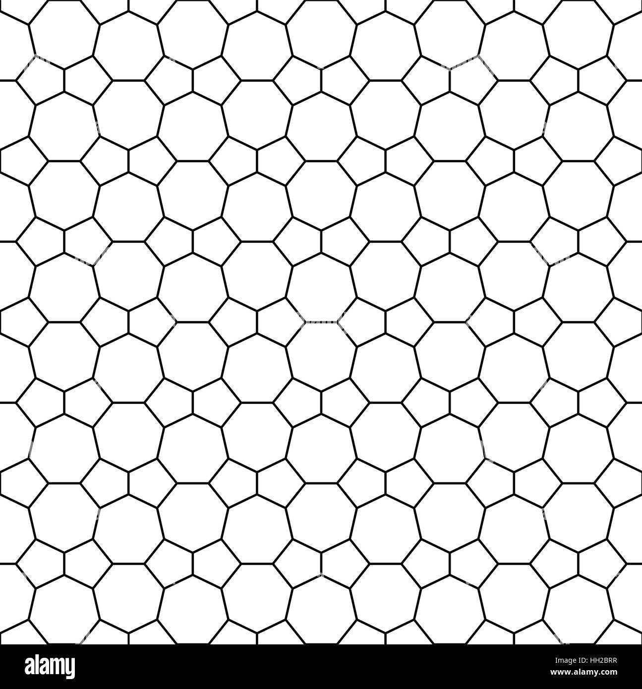 Heptagon And Pentagon Tile Pattern Seamless Editable