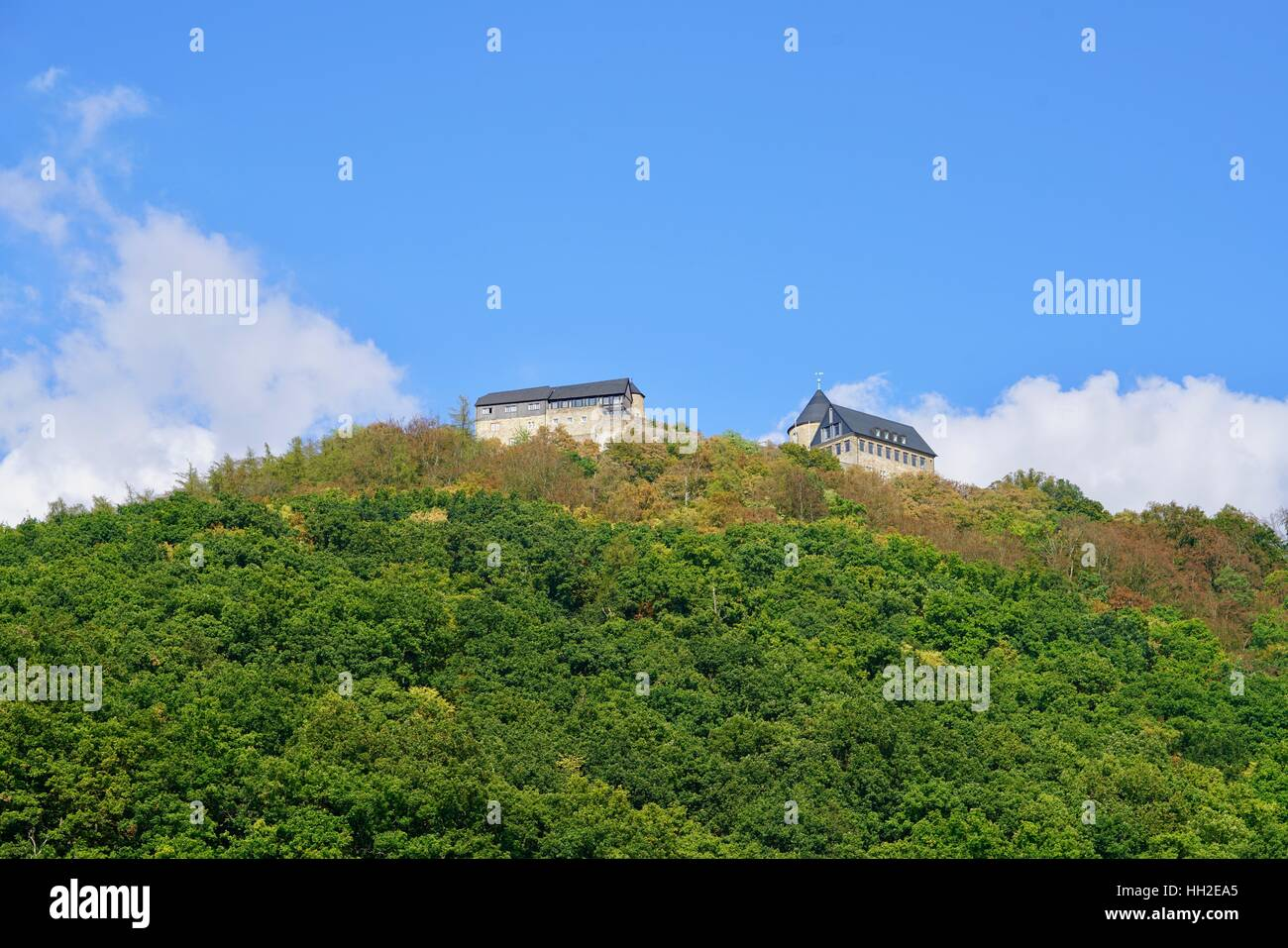 castle of Waldeck, view from the Edersee - Stock Image