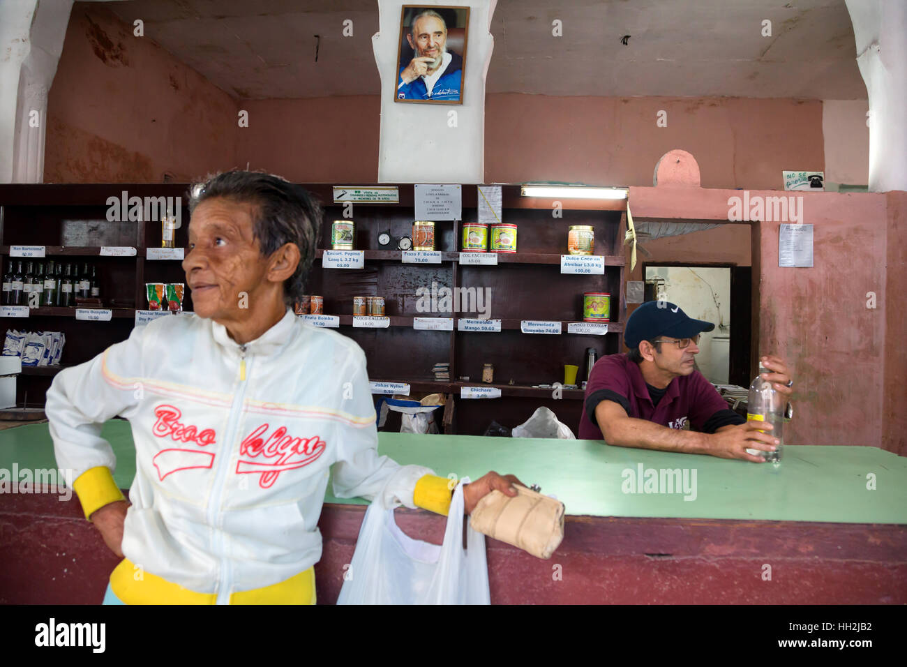 Typical  bodega grocery store in Camaguey, Cuba - Stock Image