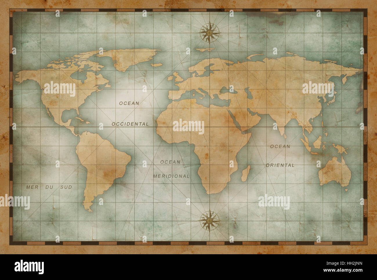 Old nautical world map background stock photo 130980353 alamy old nautical world map background gumiabroncs Gallery