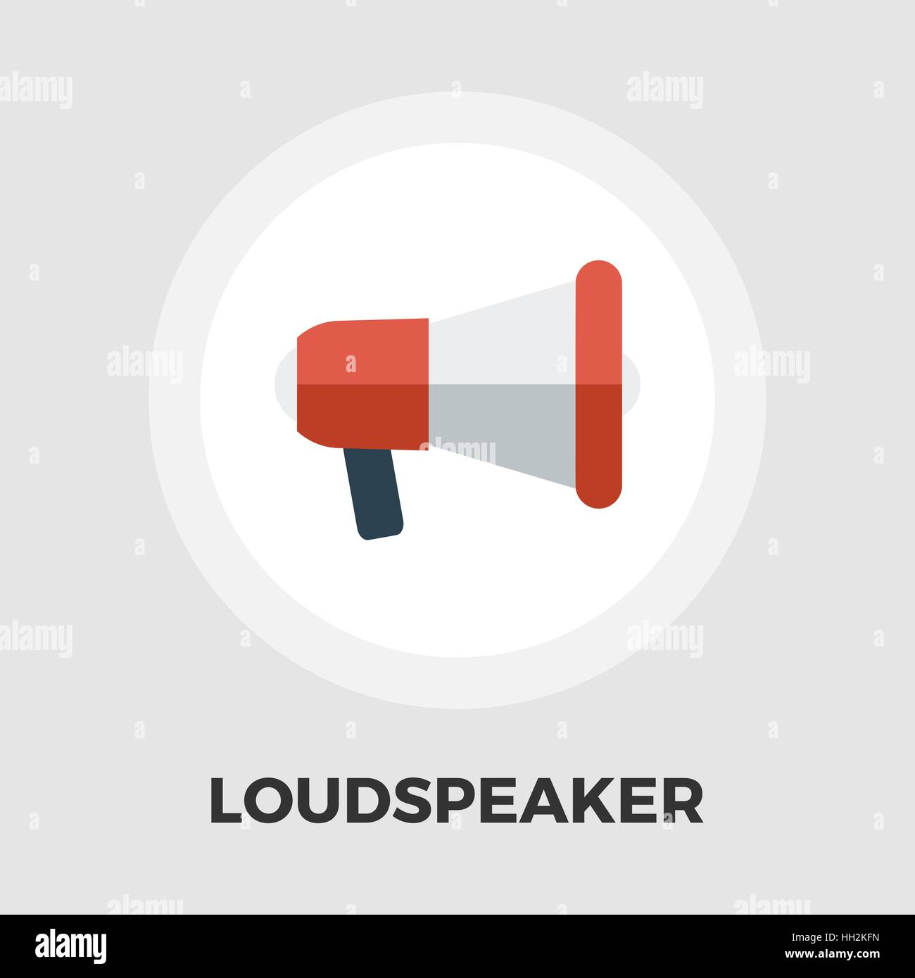 Loudspeaker icon vector. Flat icon isolated on the white background. Editable EPS file. Vector illustration. - Stock Vector