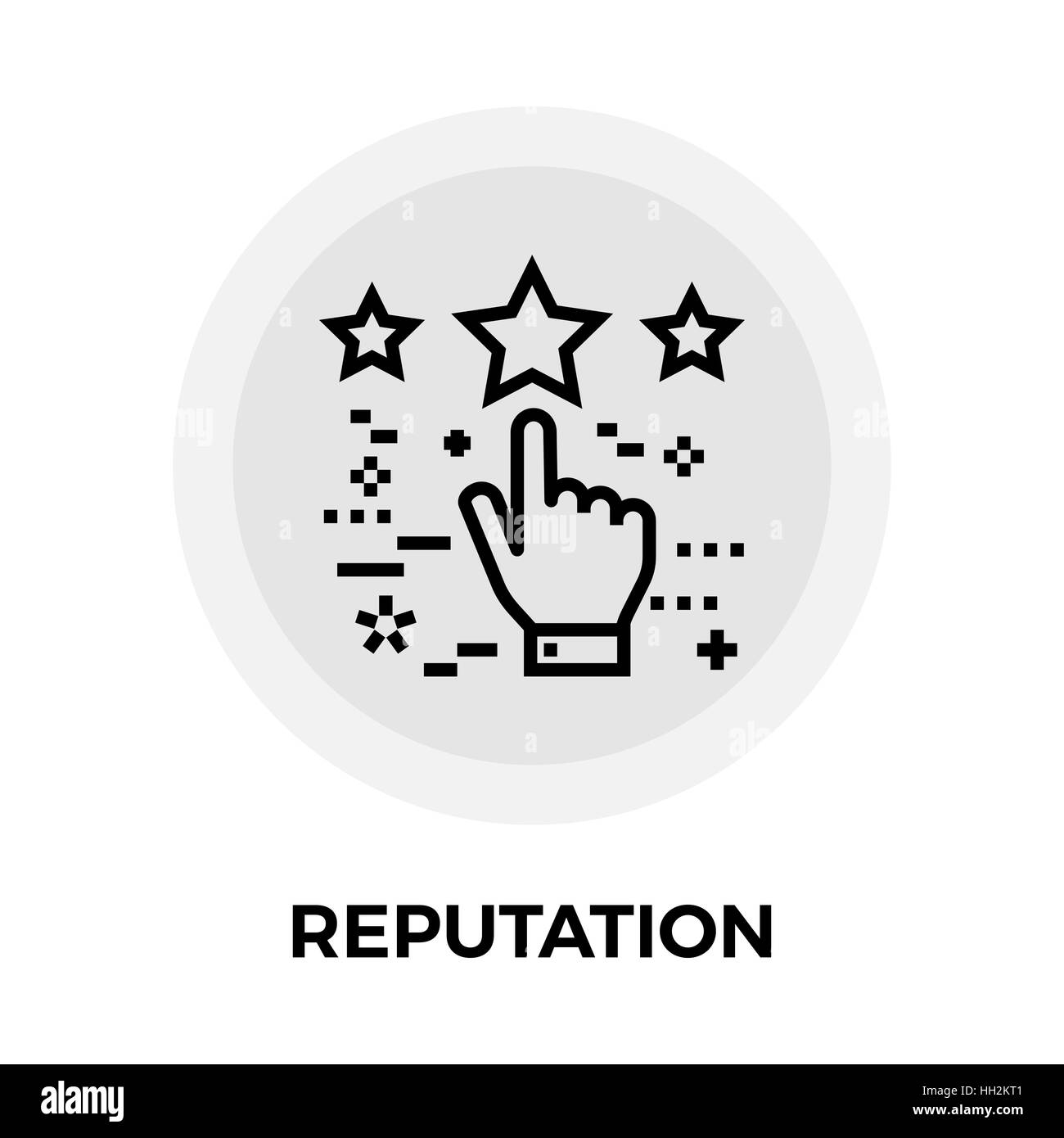 Reputation icon vector. Flat icon isolated on the white background. Editable EPS file. Vector illustration. - Stock Image