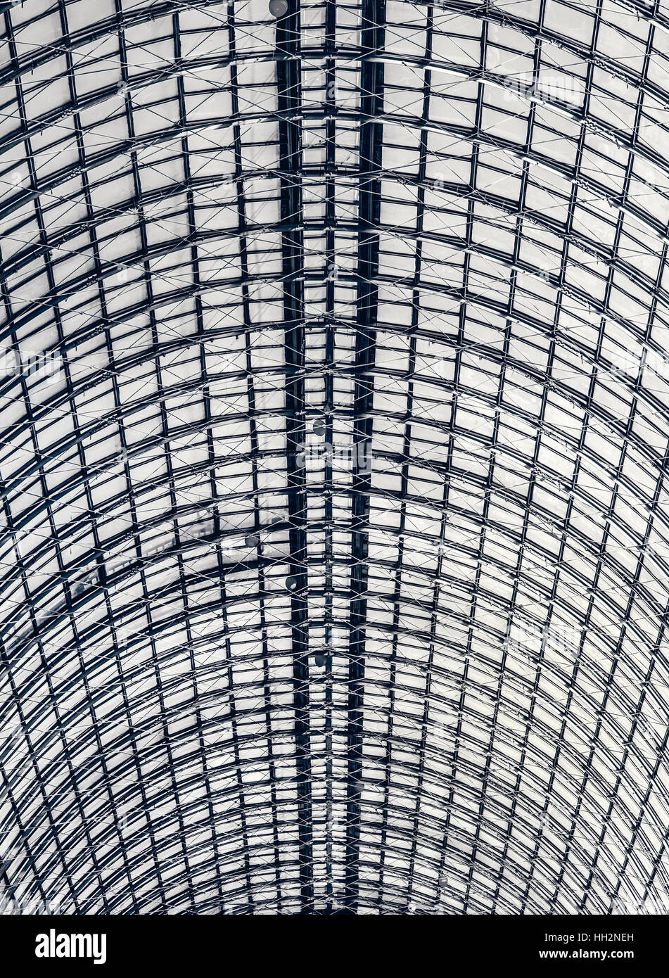industrial glazed roof - Stock Image