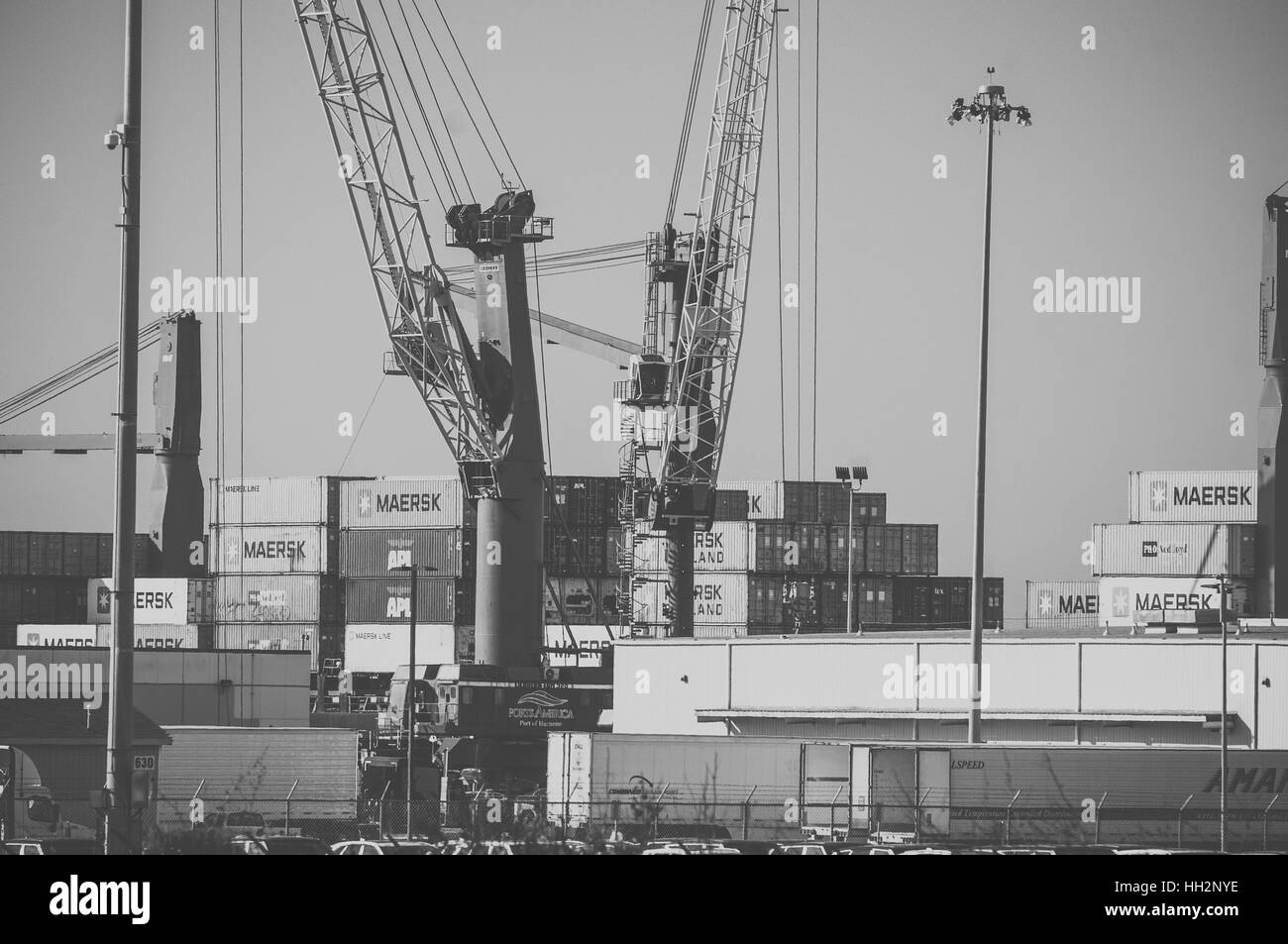 The Port of Hueneme in Ventura County on the Santa Barbara Channel - Stock Image
