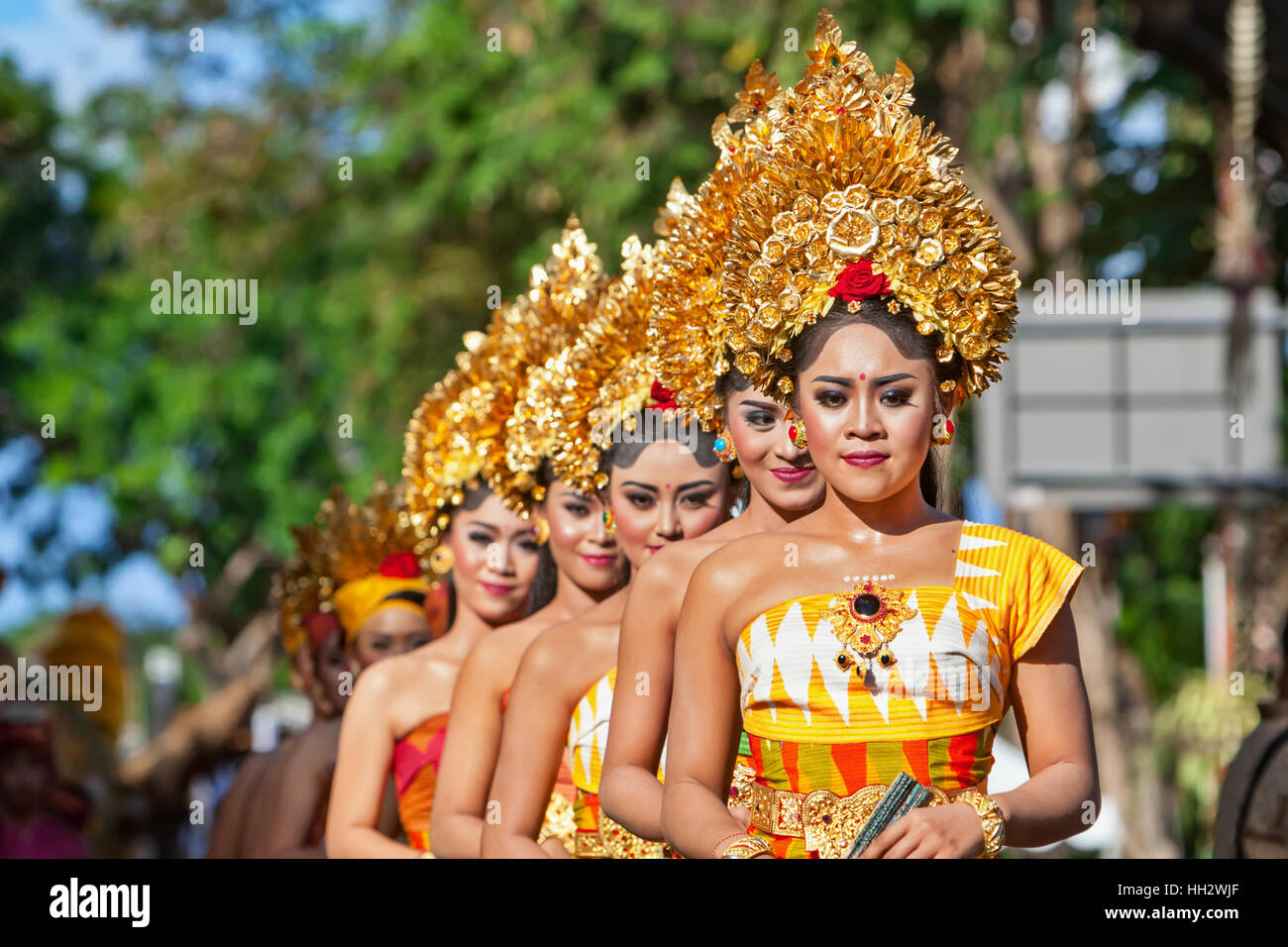 Denpasar Bali Island Indonesia June 11 2016 Group Of