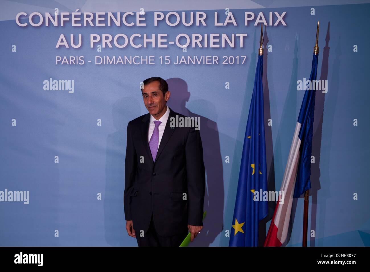 Paris, France. 15th Jan, 2017. Political figures attend the Middle East Peace Conference, Paris, France. International Stock Photo