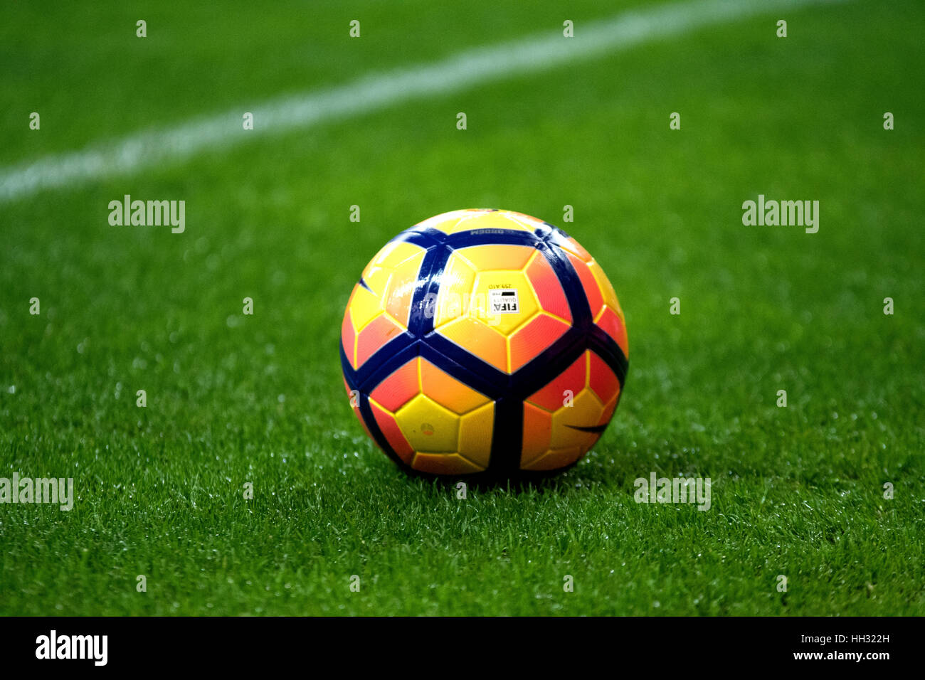 Gijon, Spain. 15th January, 2017. The ball during the football match of eigthteenth round of Season 2016/2017 of - Stock Image