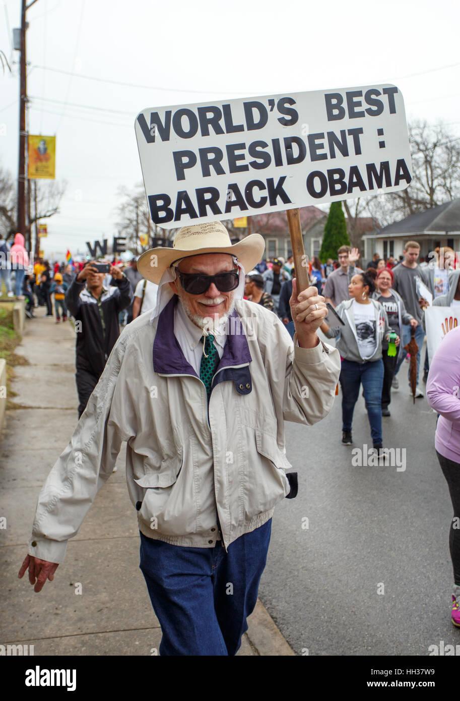 San Antonio Usa 16th January 2017 A Supporter Of U S President