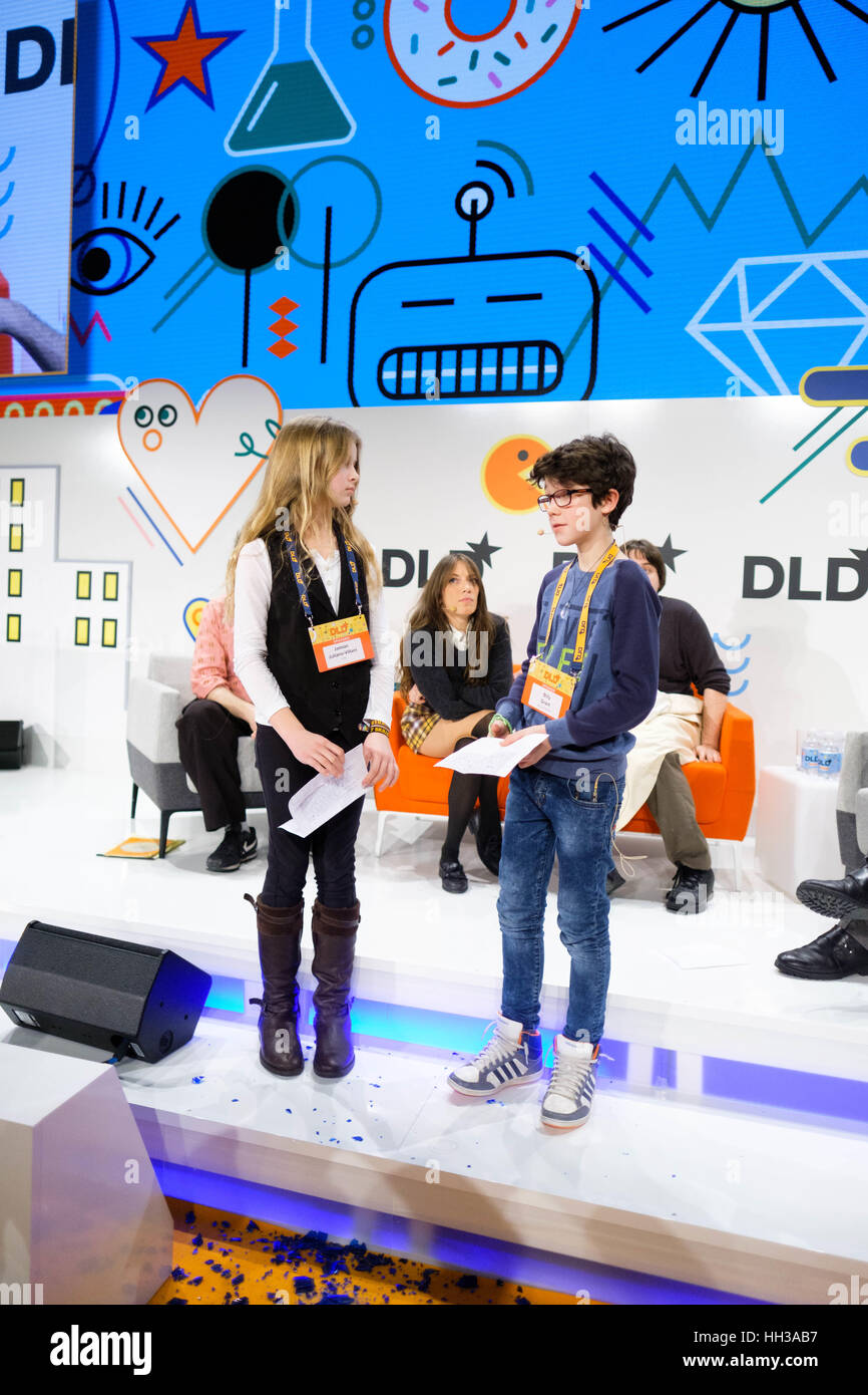 Munich, Germany. 16th Jan, 2017. JAMIAN JULIANO-VILLANI and BILLY GRANT during he DLD17 (Digital-Life-Design) Conference Stock Photo