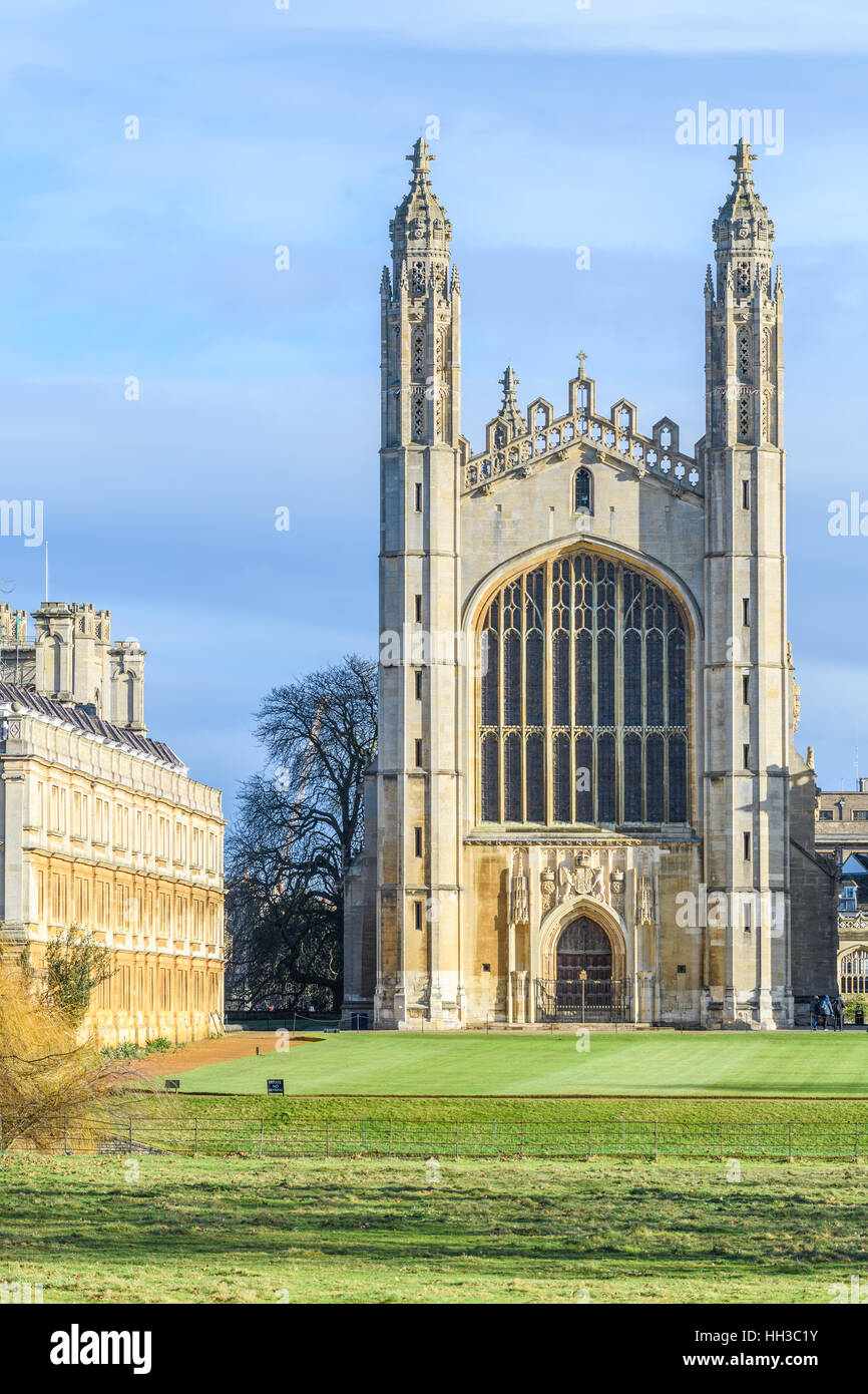 King's college at the university of Cambridge, England. - Stock Image