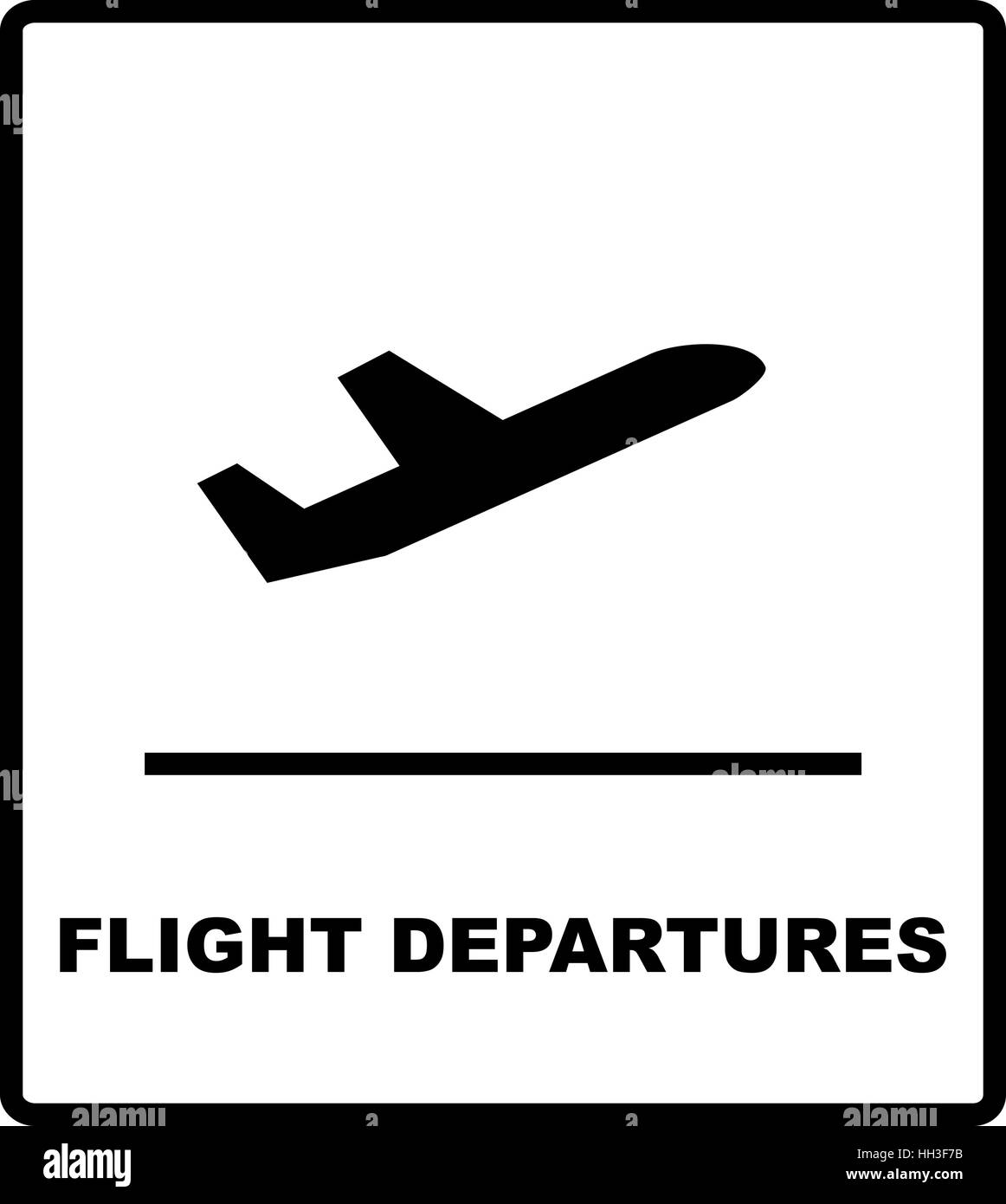 Flight Departures Icon Airport Sign