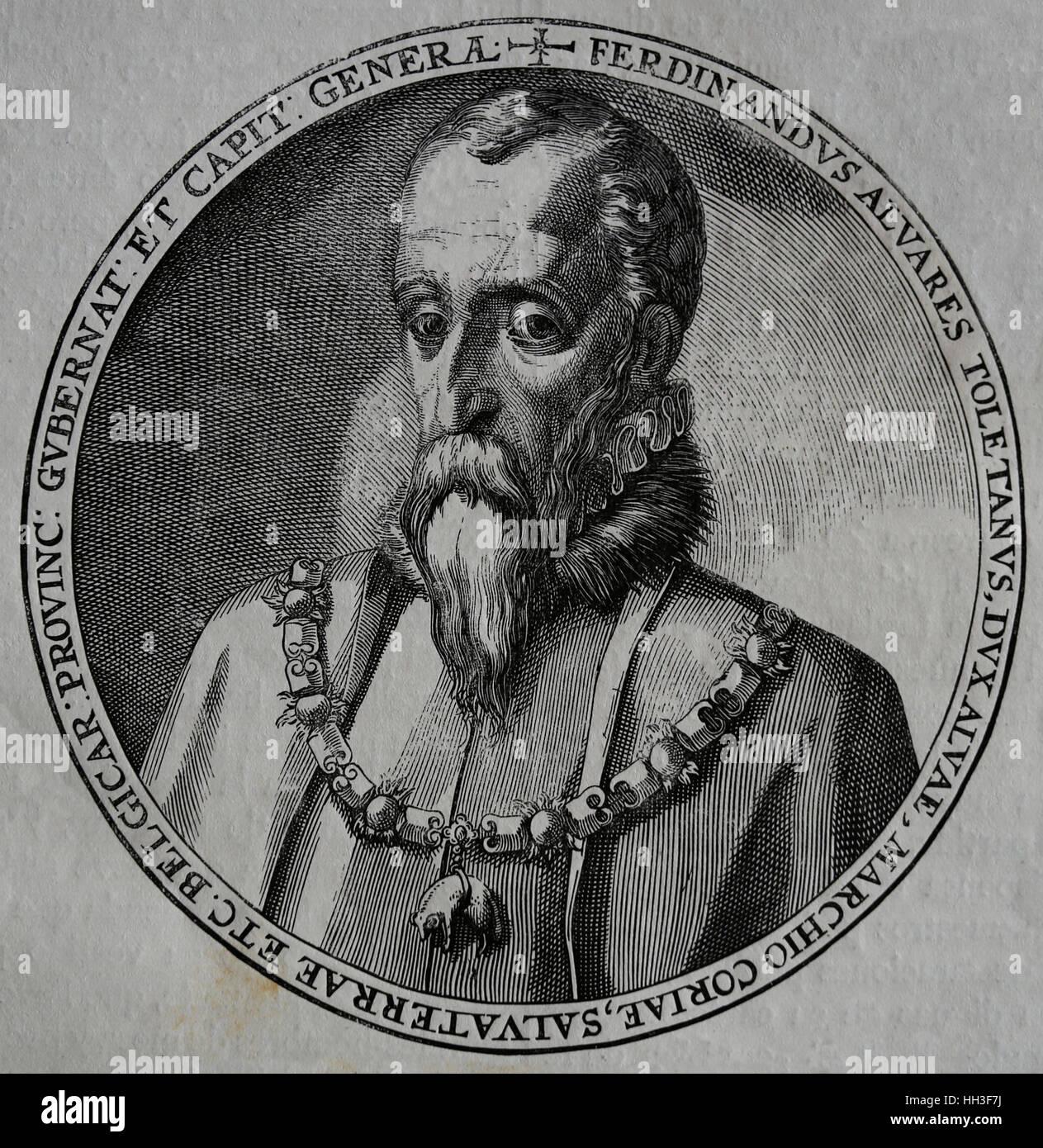 Fernando Alvarez de Toledo, 3rd Duke of Alba (1507-1582). Governor of Milan, Viceroy of Naples and Gobernor of Netherlands. - Stock Image