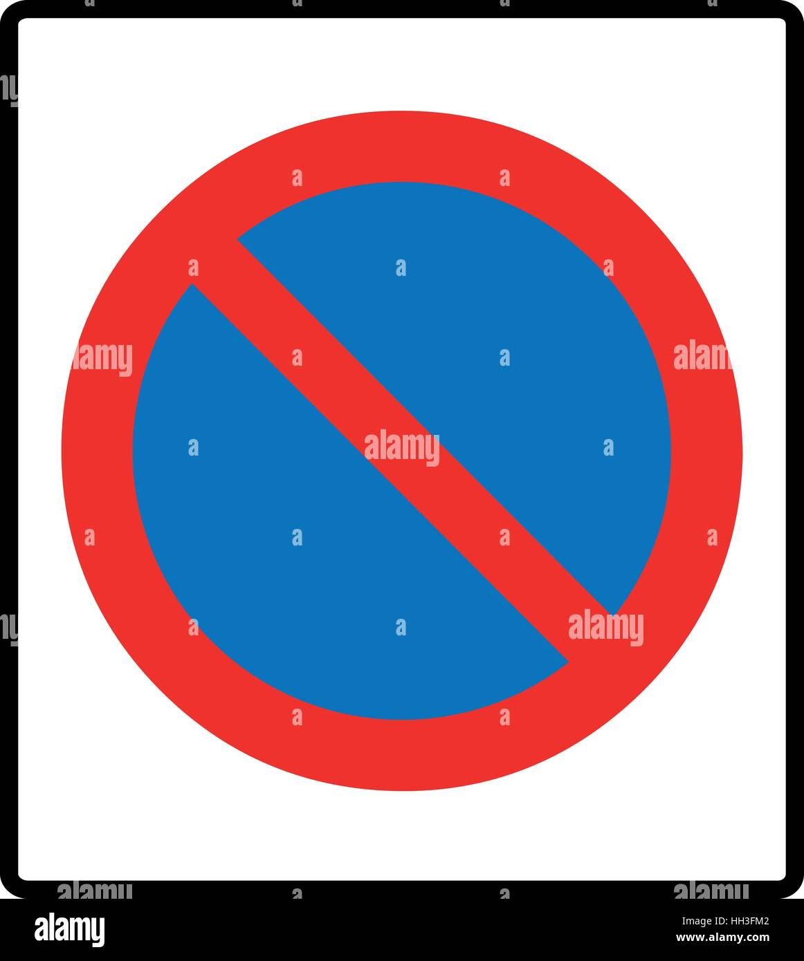 Clearway Sign, No Parking Symbol, Red Cross In Circle