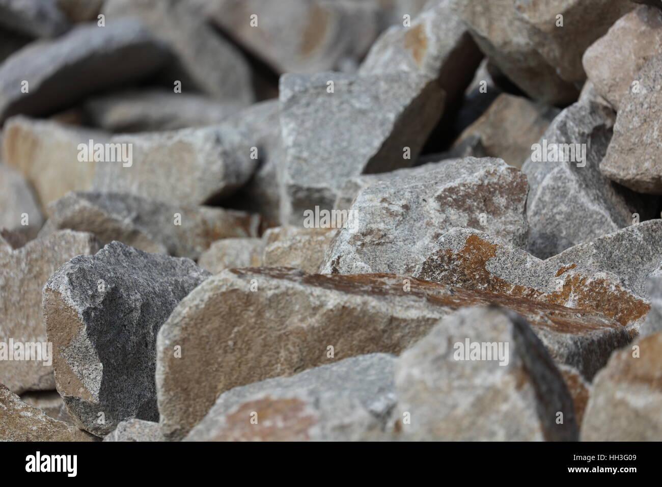 Steine Muschelkalk Muschelkalksteine Stock Photo