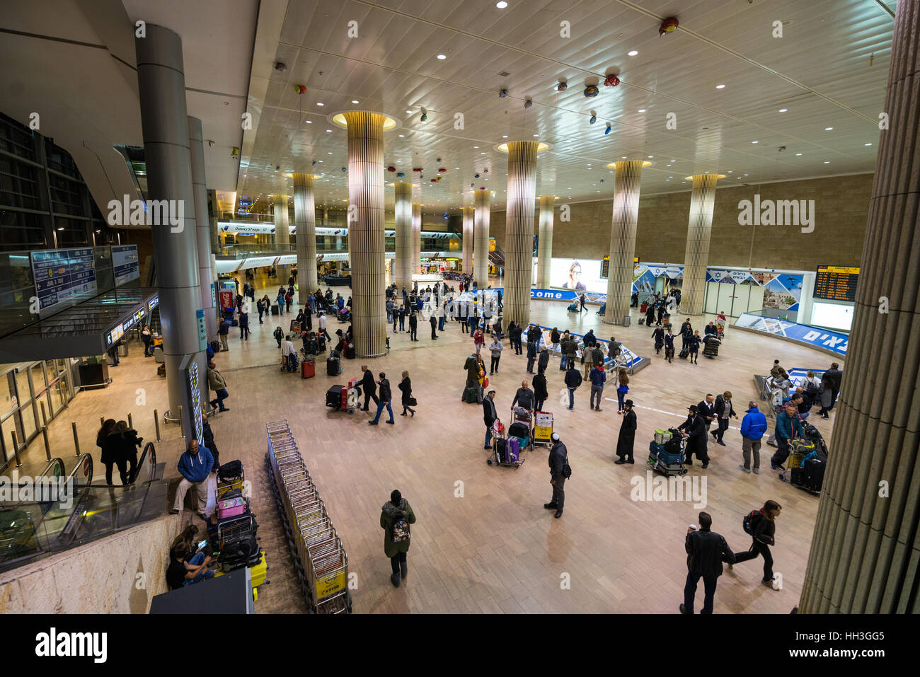 Arrival hall Ben Gurion Airport Tel AvivJaffa Israel Stock Photo