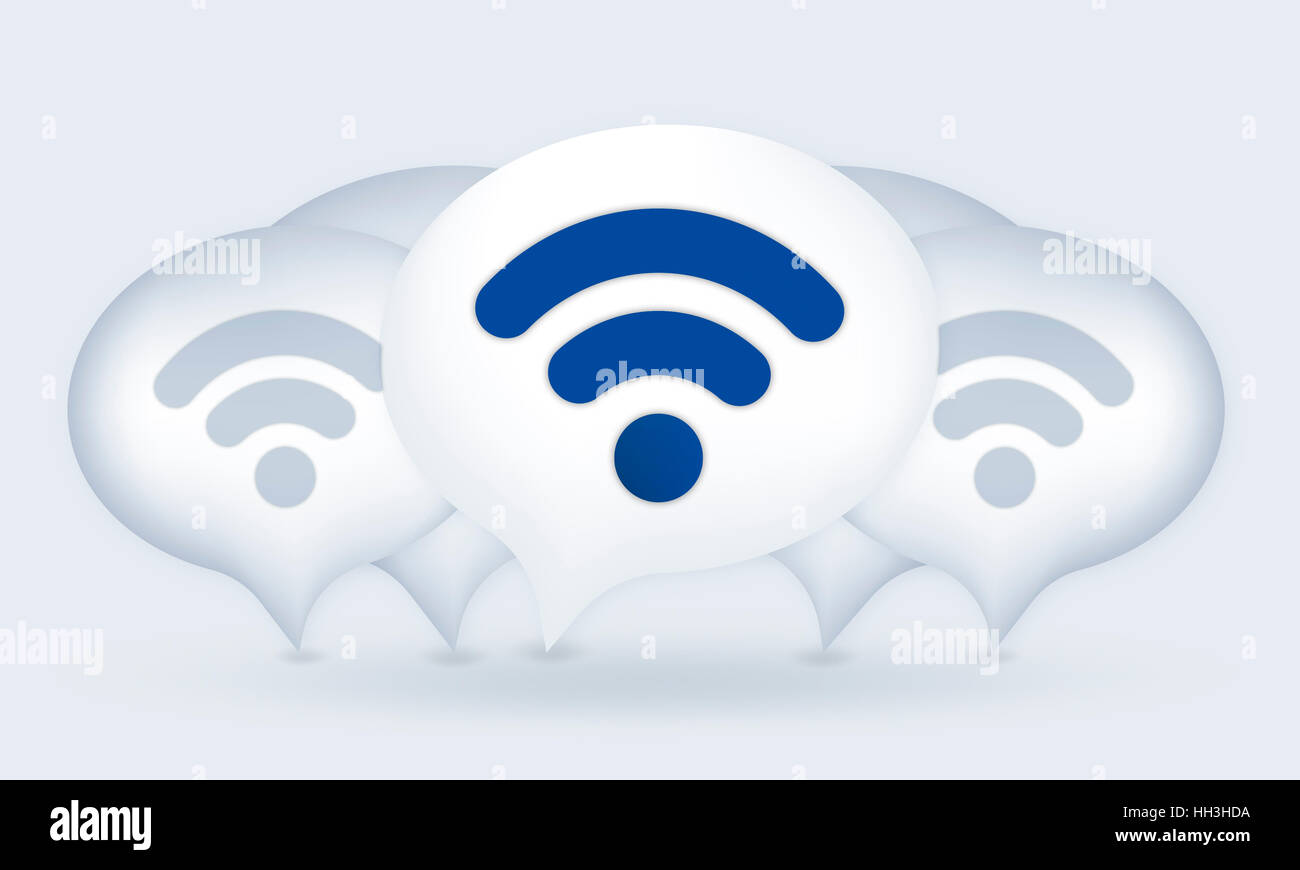 Wifi Network Technology Conneciton Internet Concept - Stock Image
