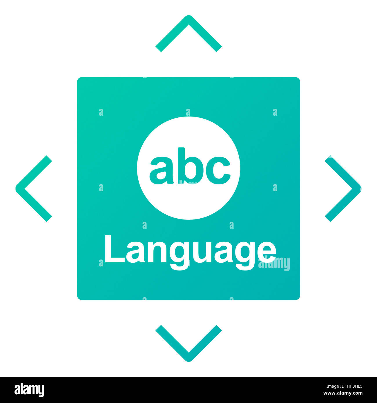 Literacy ABC Icon Alphabet Concept - Stock Image