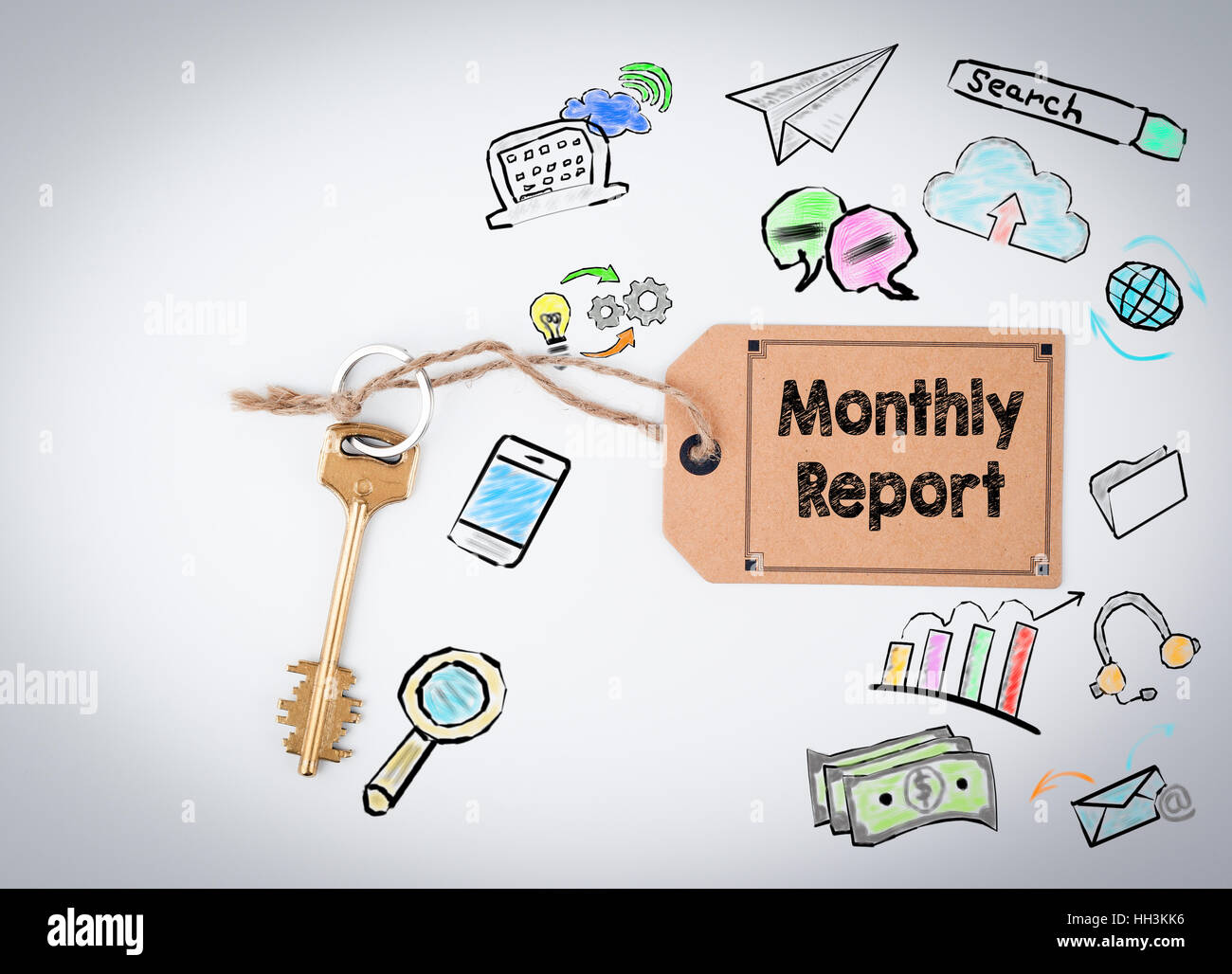 monthly report concept - Stock Image