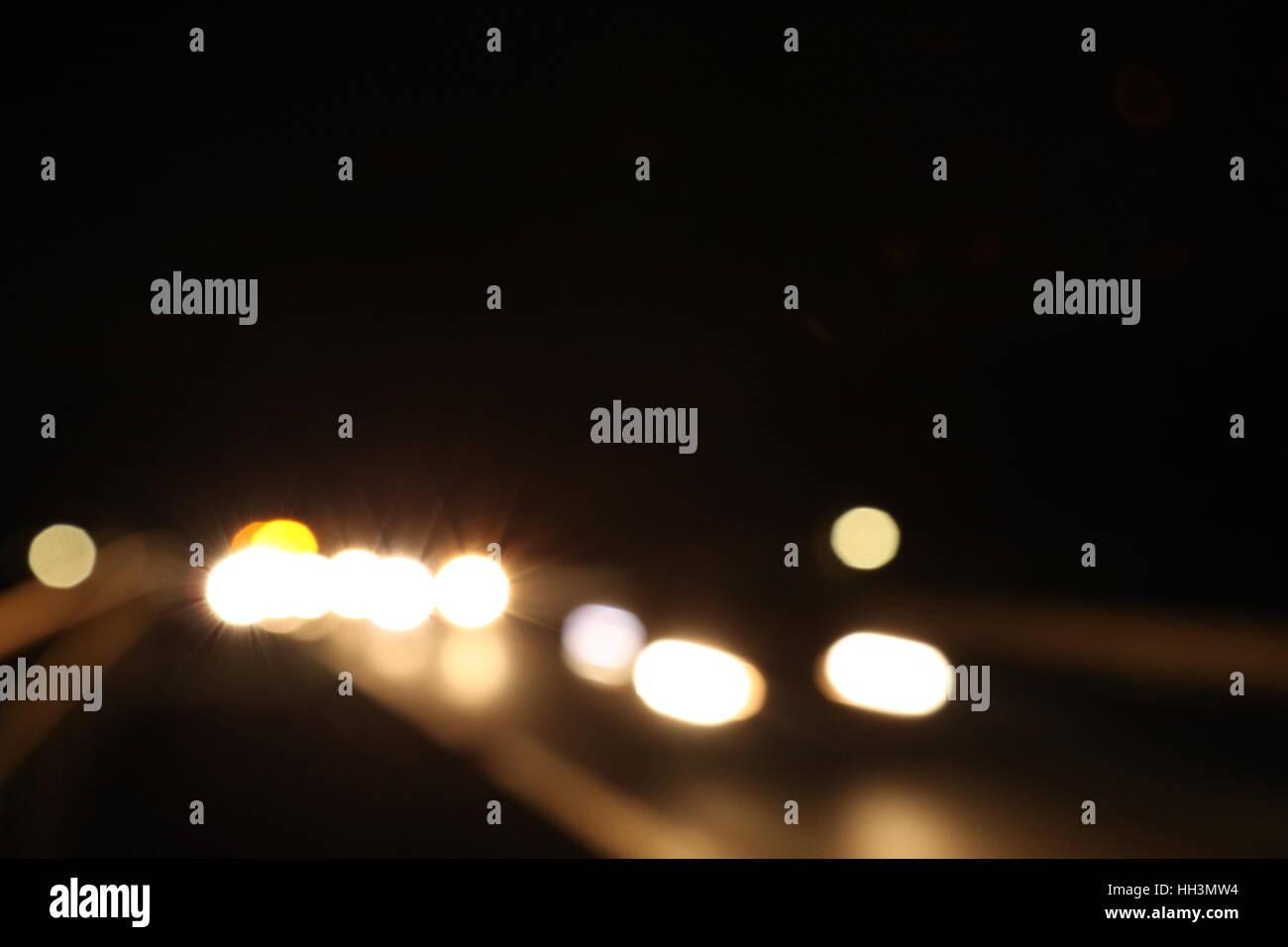Auto in der Nacht - Stock Image
