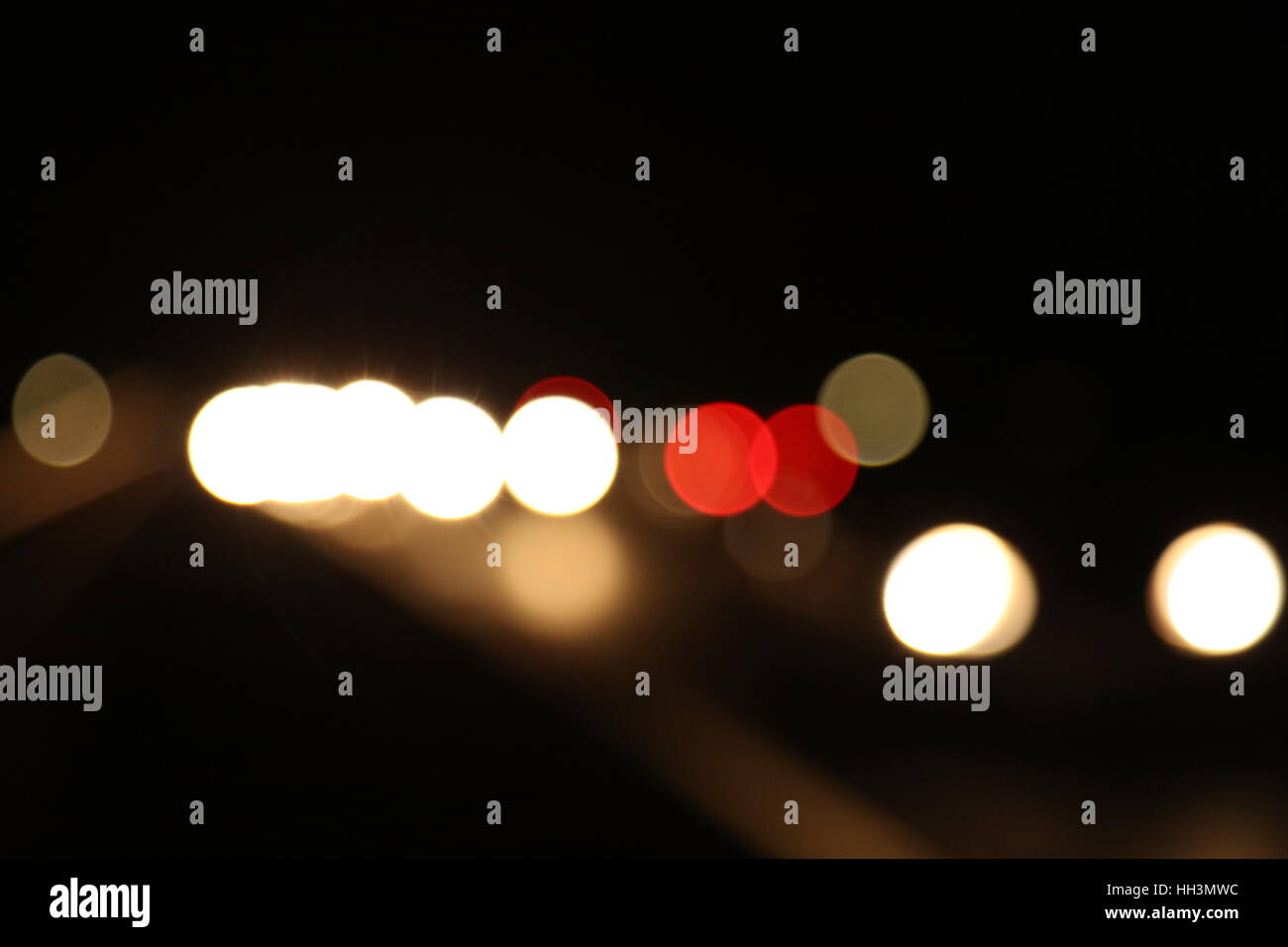 Auto in der Nacht - Stock Image