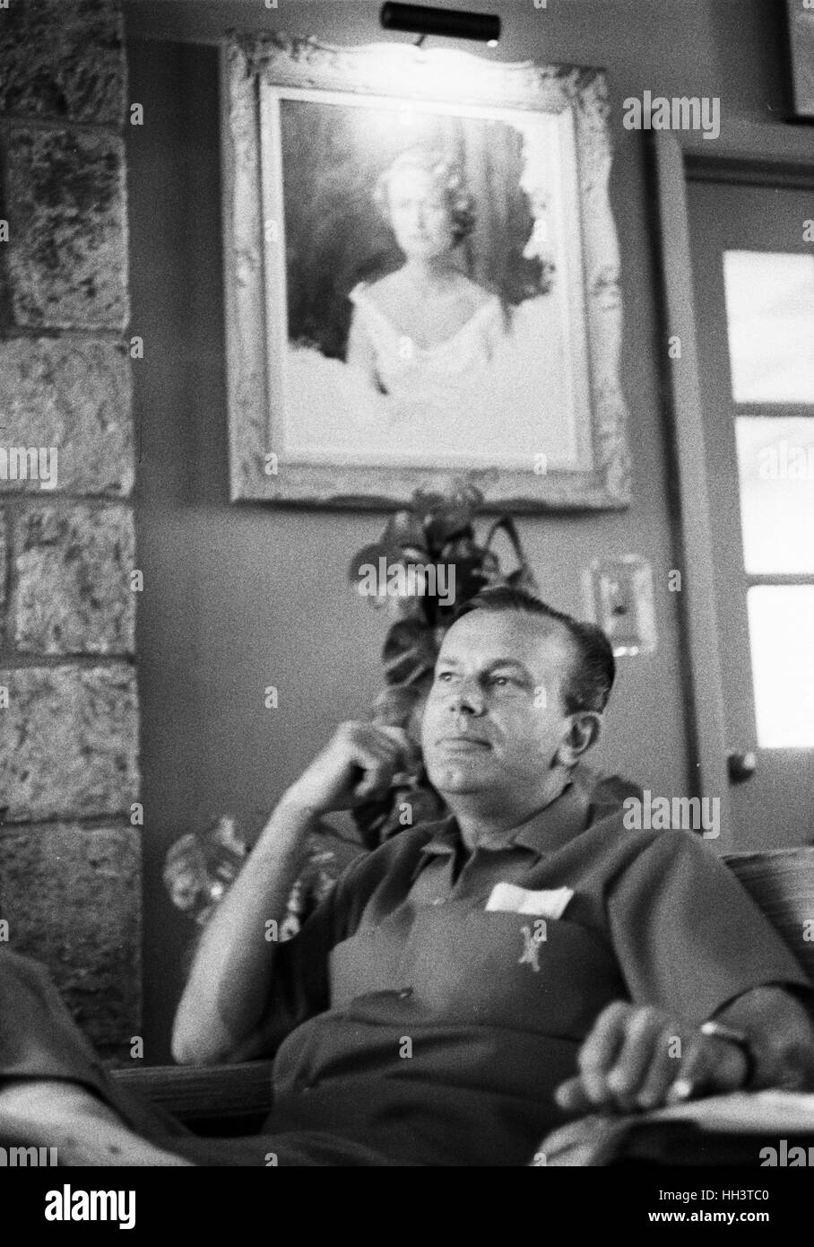 Jack Paar, photographed at his home in July 1962. - Stock Image