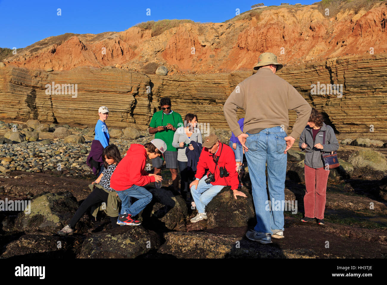 Tidepools, Cabrillo National Monument,Point Loma,San Diego,California,USA - Stock Image