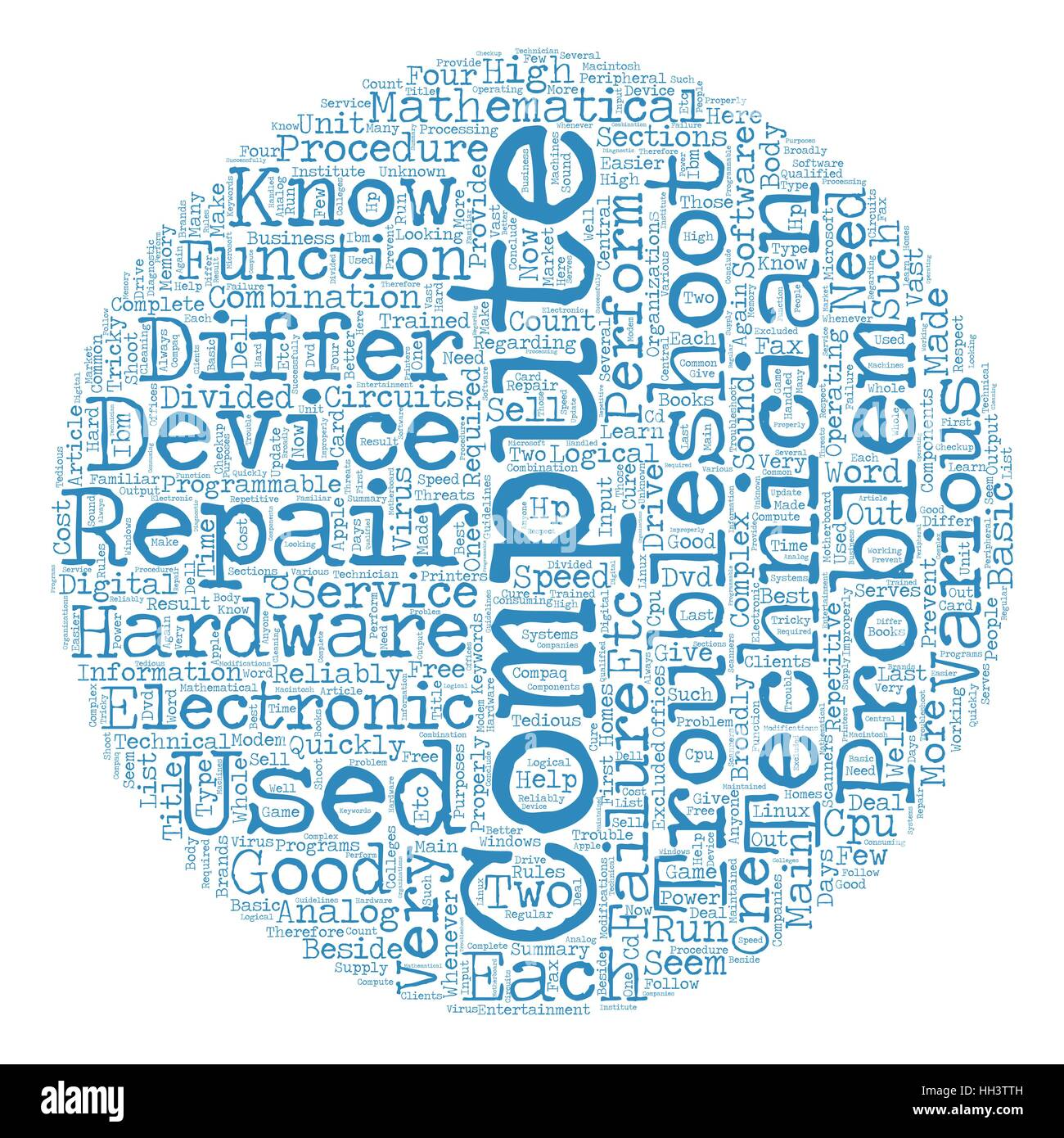 Computer Repair Is A Tricky Business text background wordcloud concept - Stock Vector