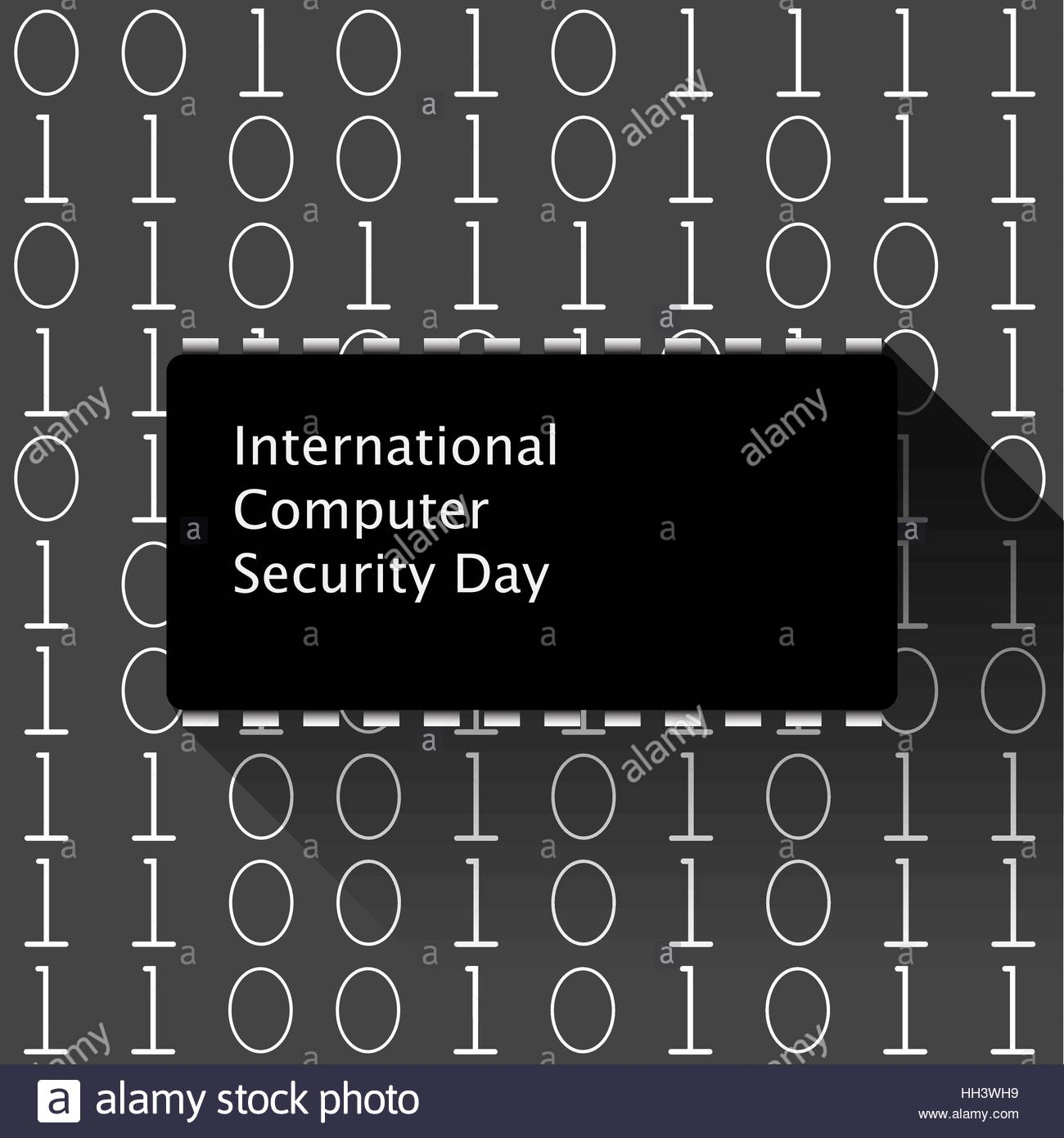 Vector illustration of Computer Security Day Theme - Stock Vector