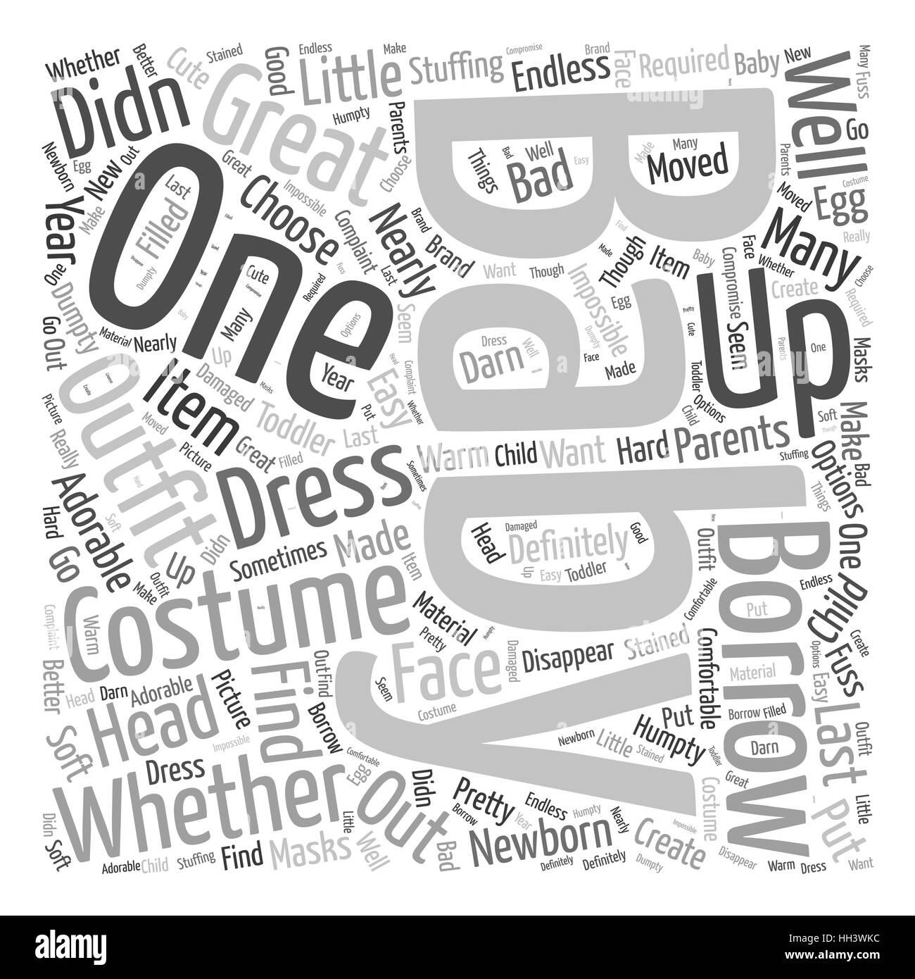 costumes for babies Word Cloud Concept Stock Vector Art