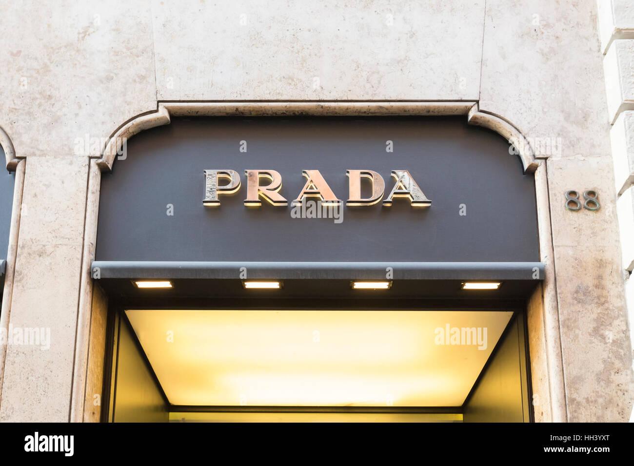 Prada shop Stock Photo