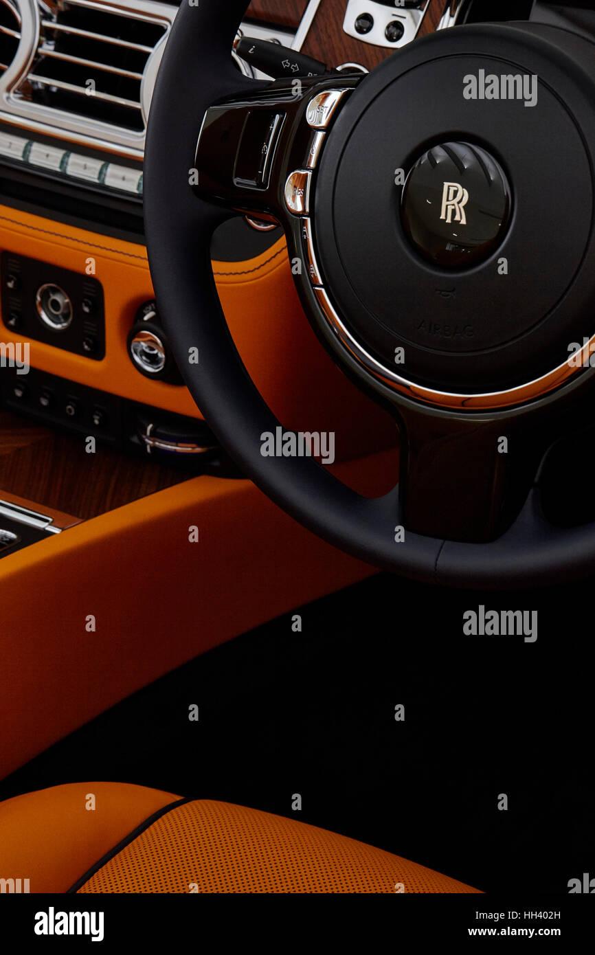 Rolls Royce Motor Cars Interior Detail Of Rolls Royce Dawn In