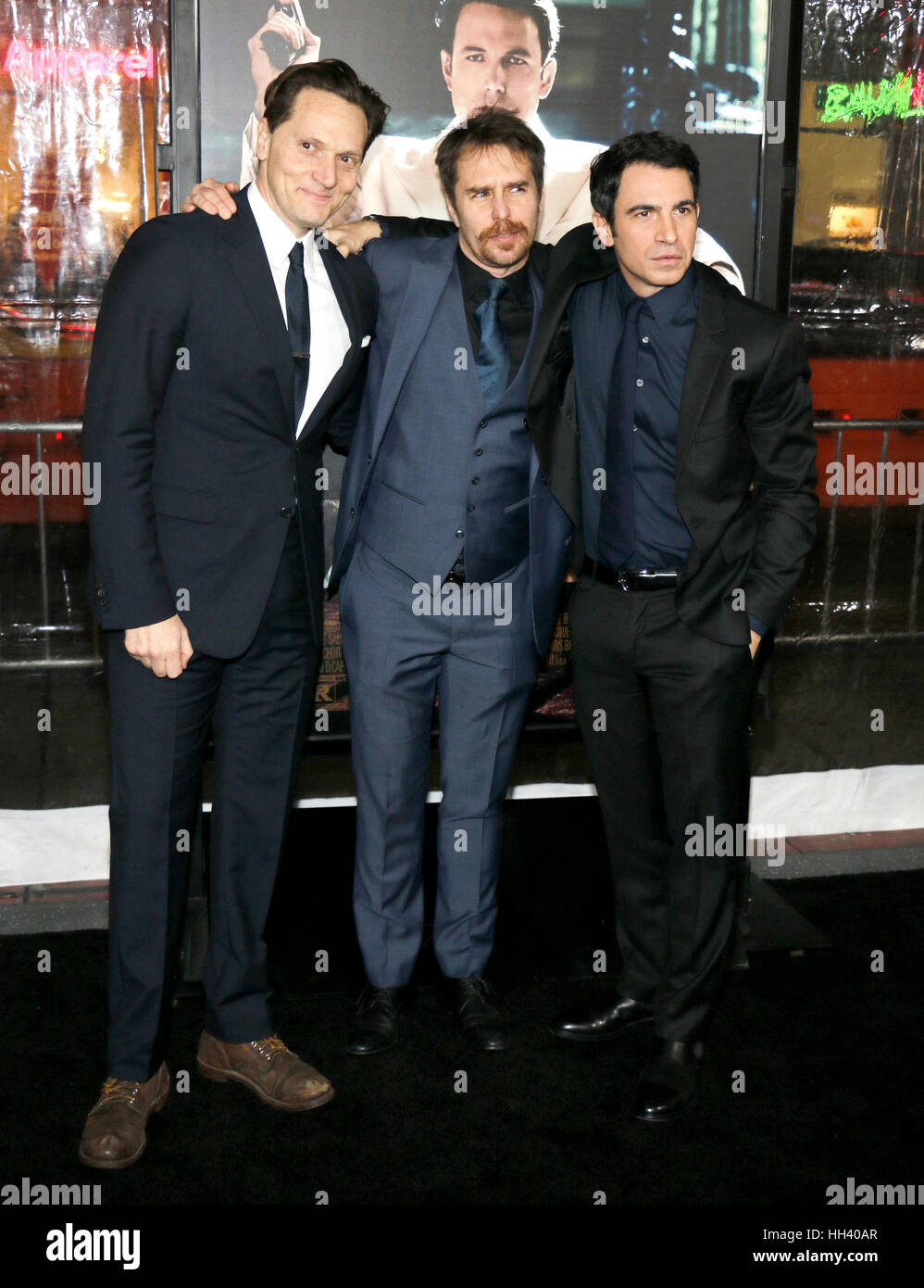Matt Ross Sam Stockwell And Chris Messina At The Los Angeles Premiere Of Live By Night Held At The Tcl Chinese Theatre In La