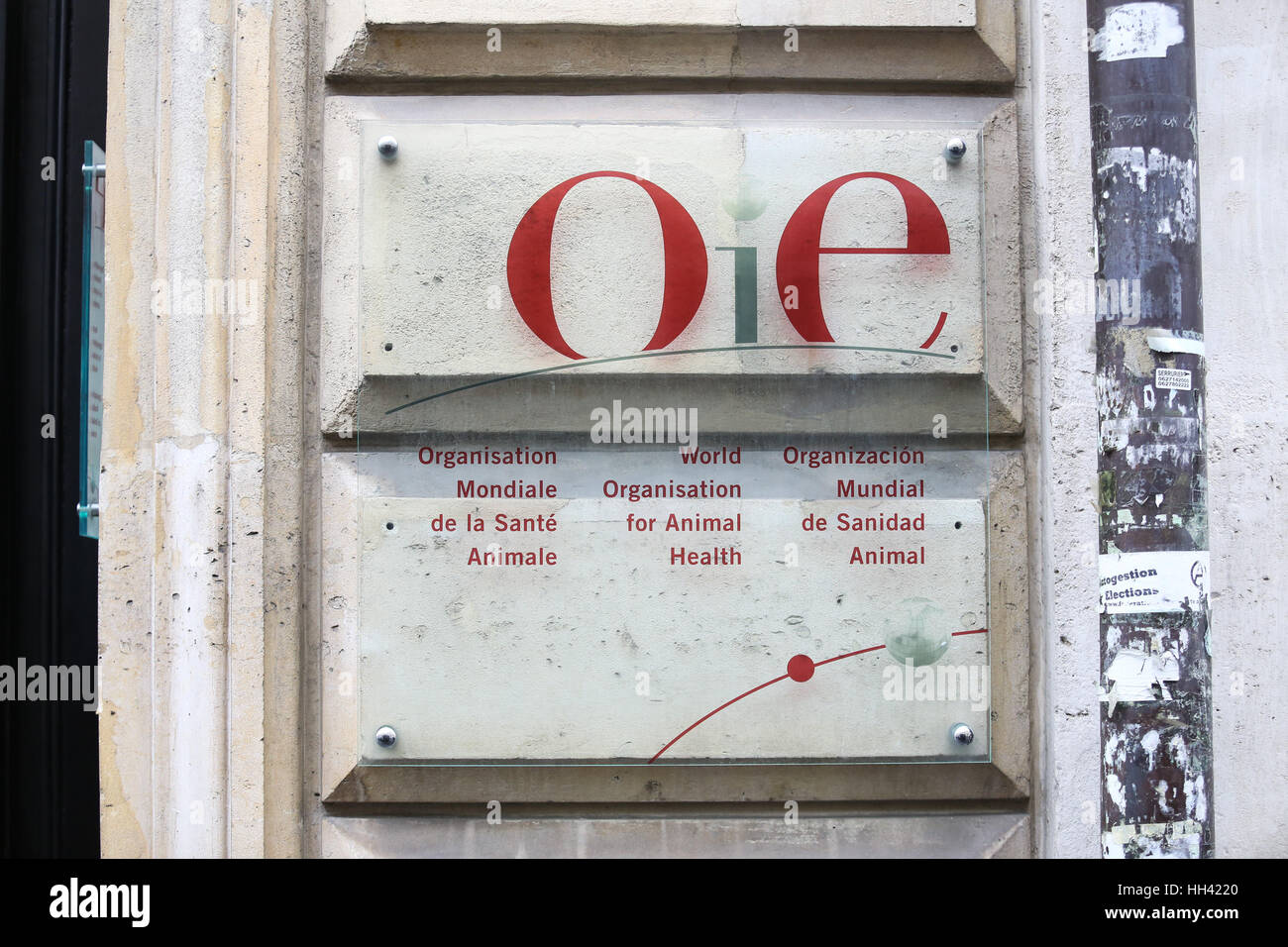 The OIE (World Organisation for Animal Health) headquarters in Paris, France. - Stock Image