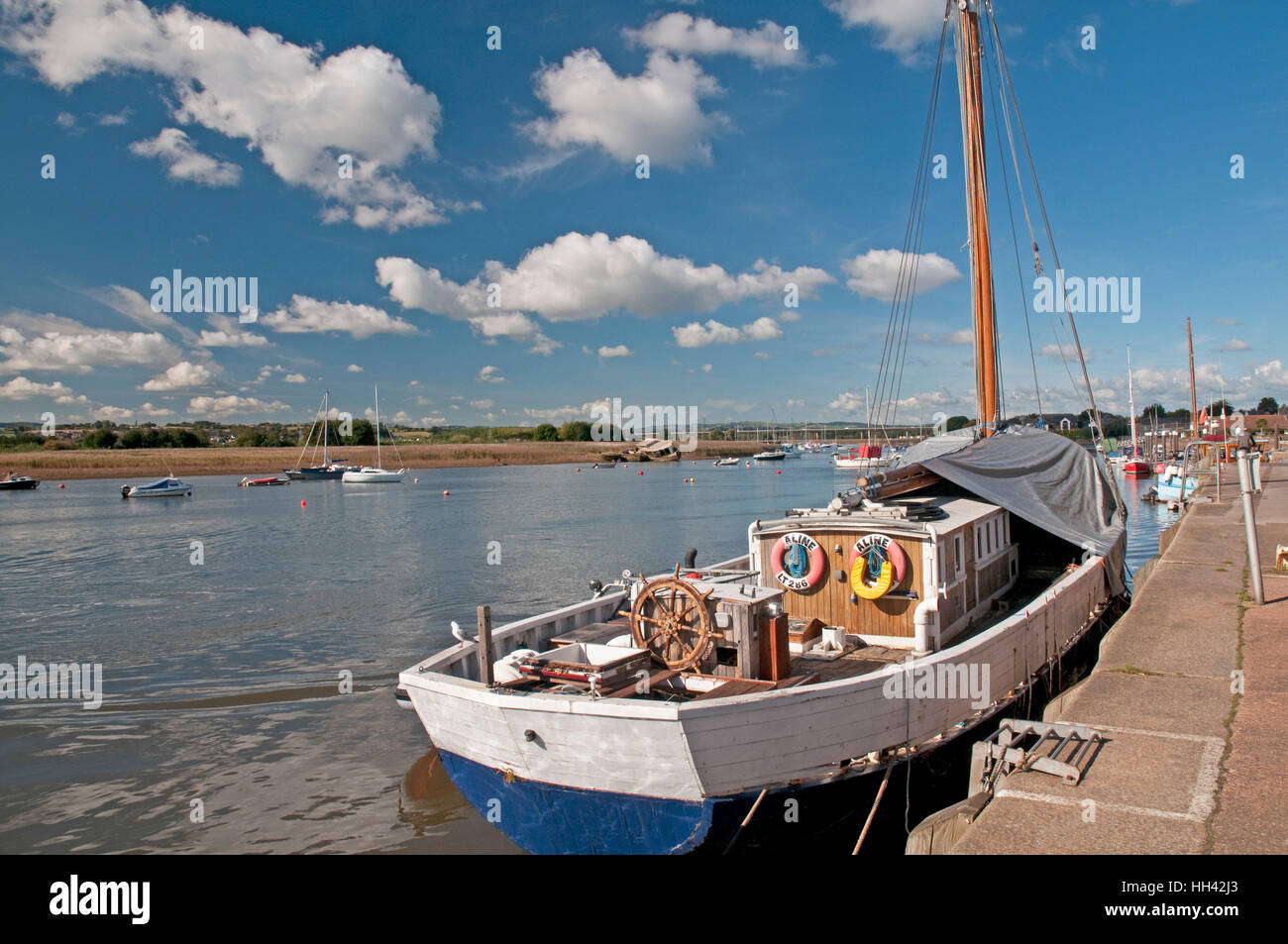 The Quay at Topsham, Devon - Stock Image