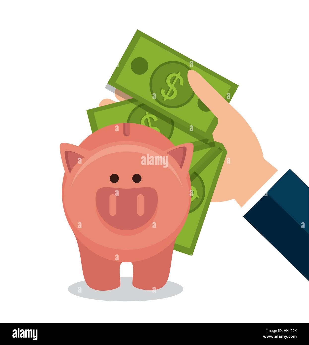 crowdfunding savings concept icon vector illustration design stock