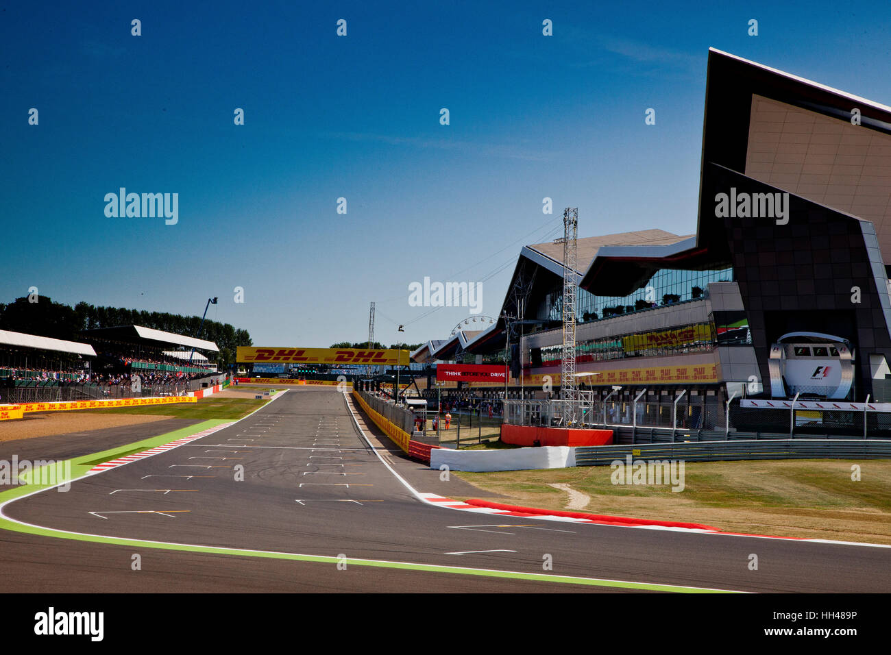 Silverstone motor racing circuit, Northants, UK Stock Photo