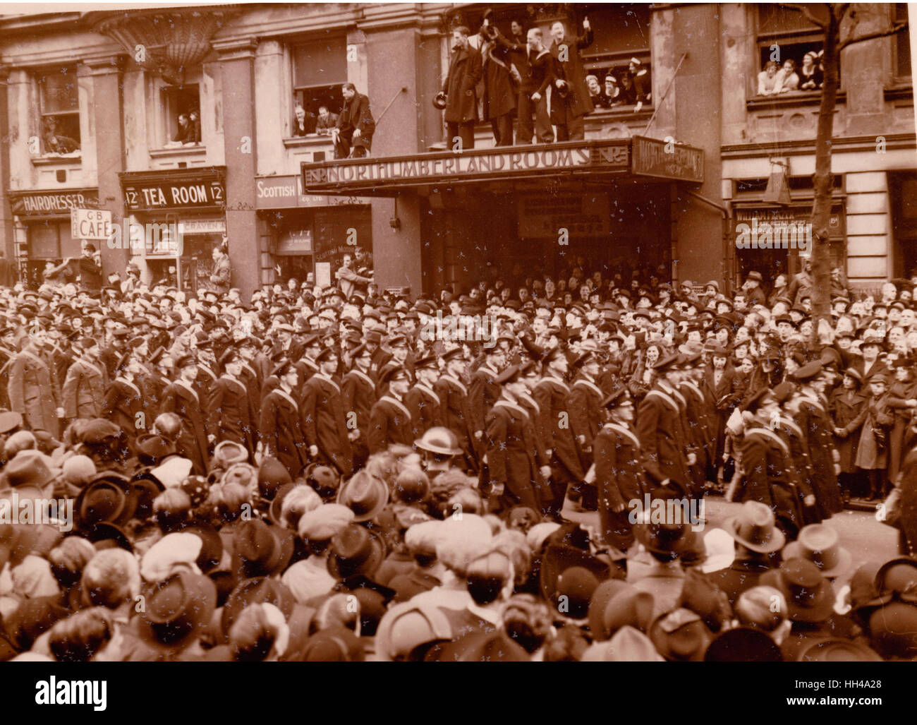 Graf Spee London Victory Parade 23.2.1940 Northumberland Avenue - Stock Image