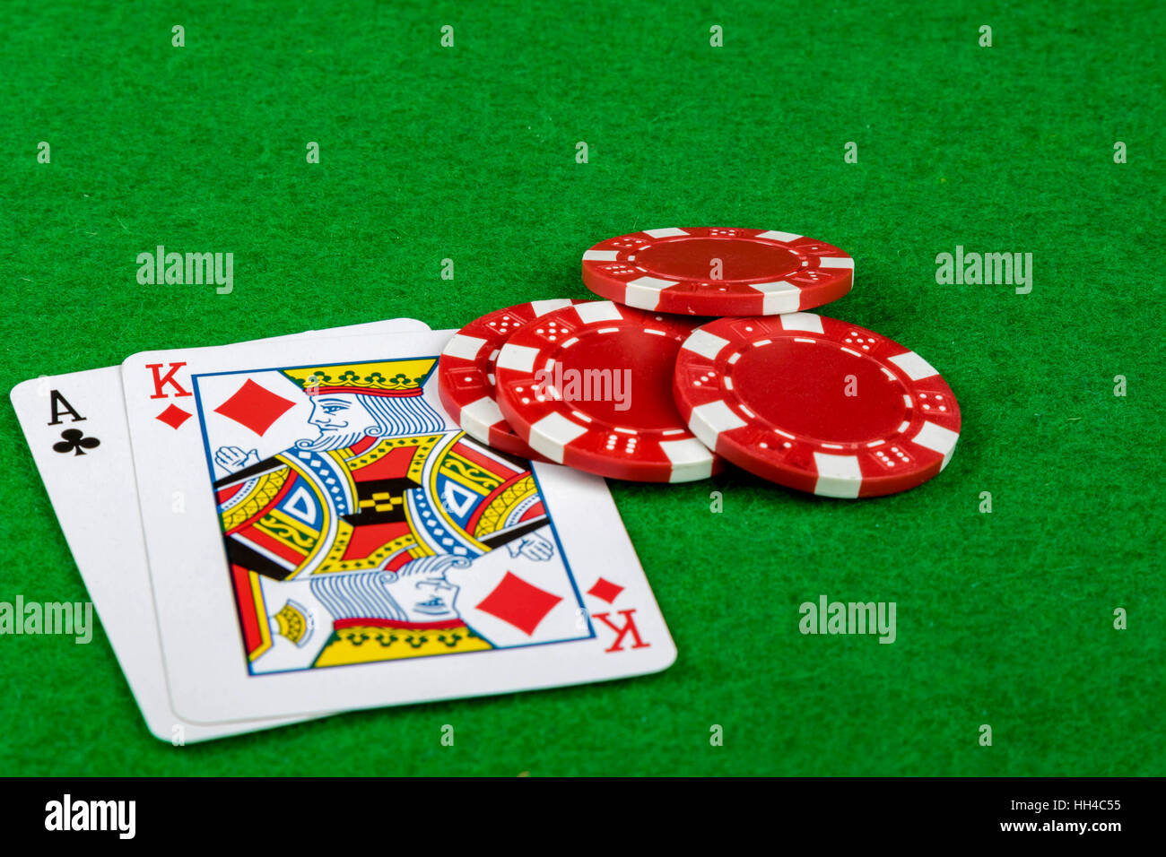 Blackjack 21 - Stock Image